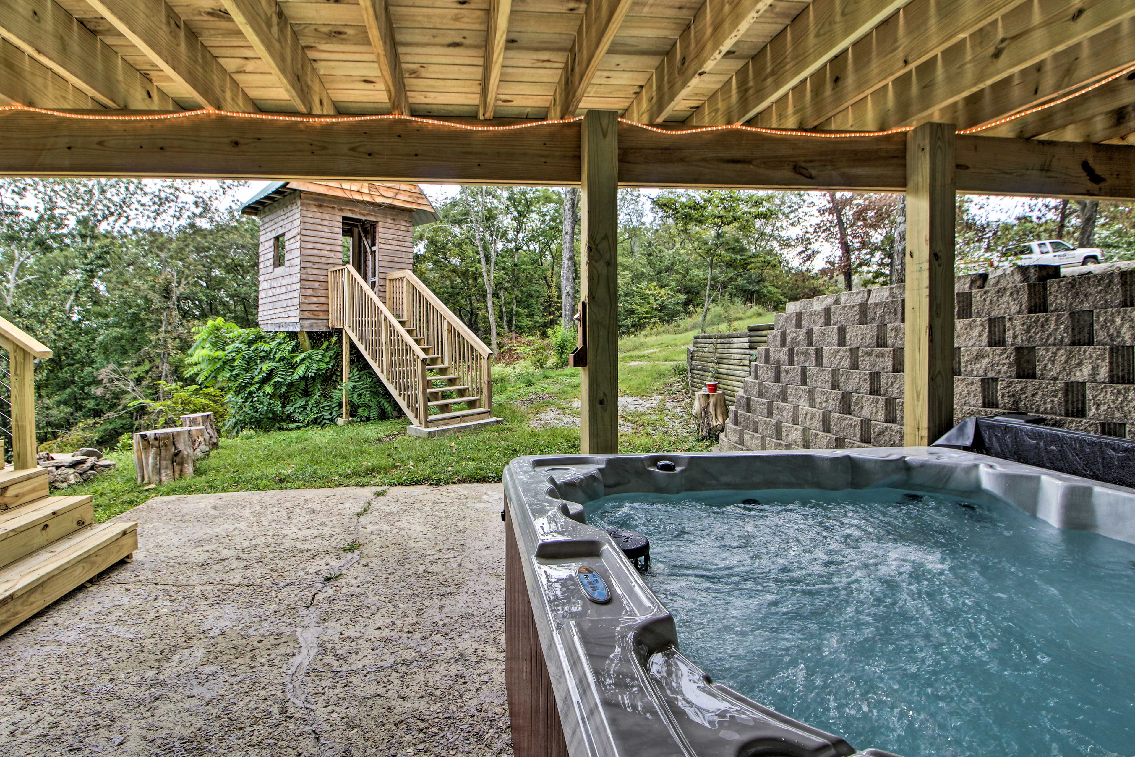There's a brand-new hot tub that's perfect for soothing sore muscles!