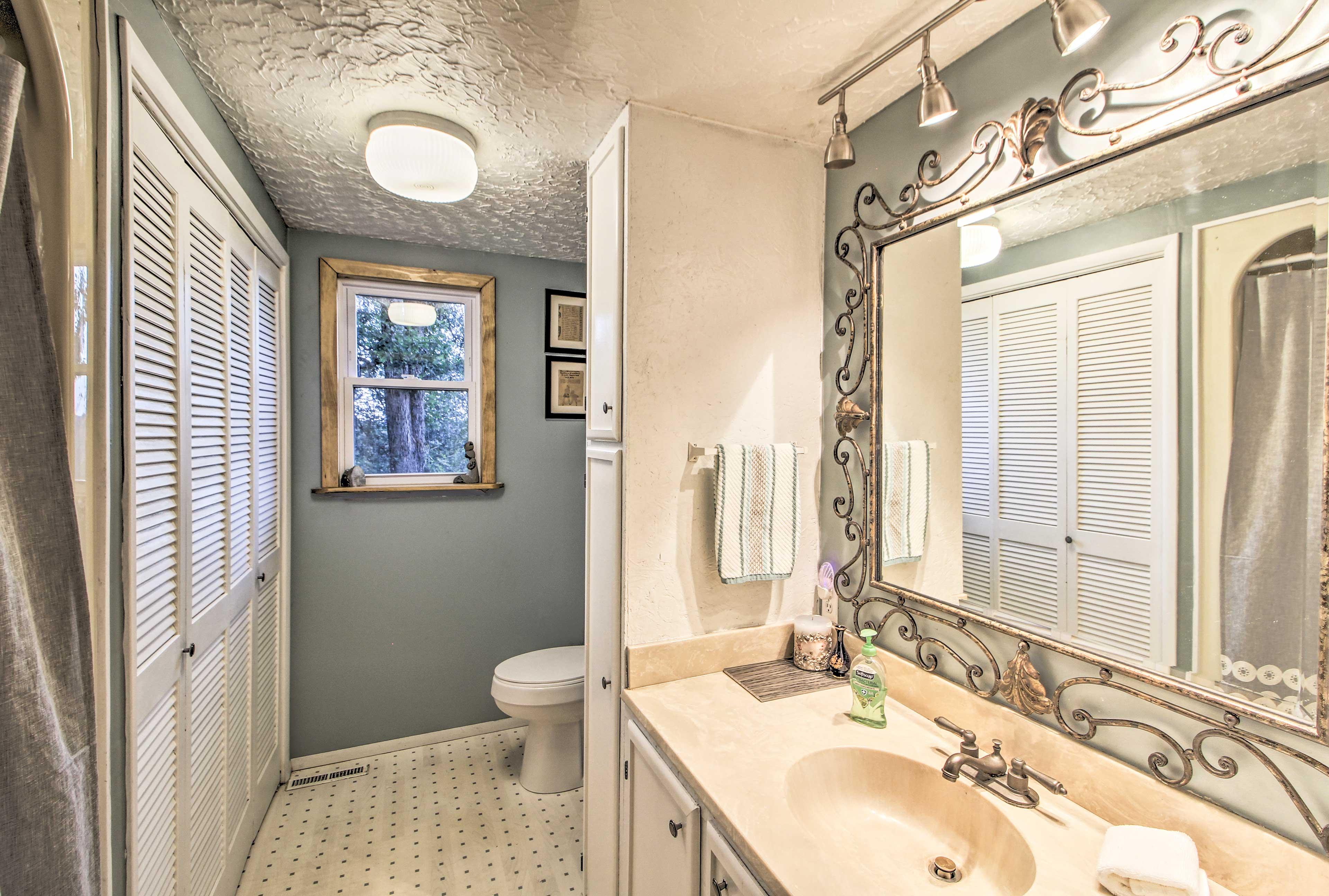 This bathroom has more than meets the eye.