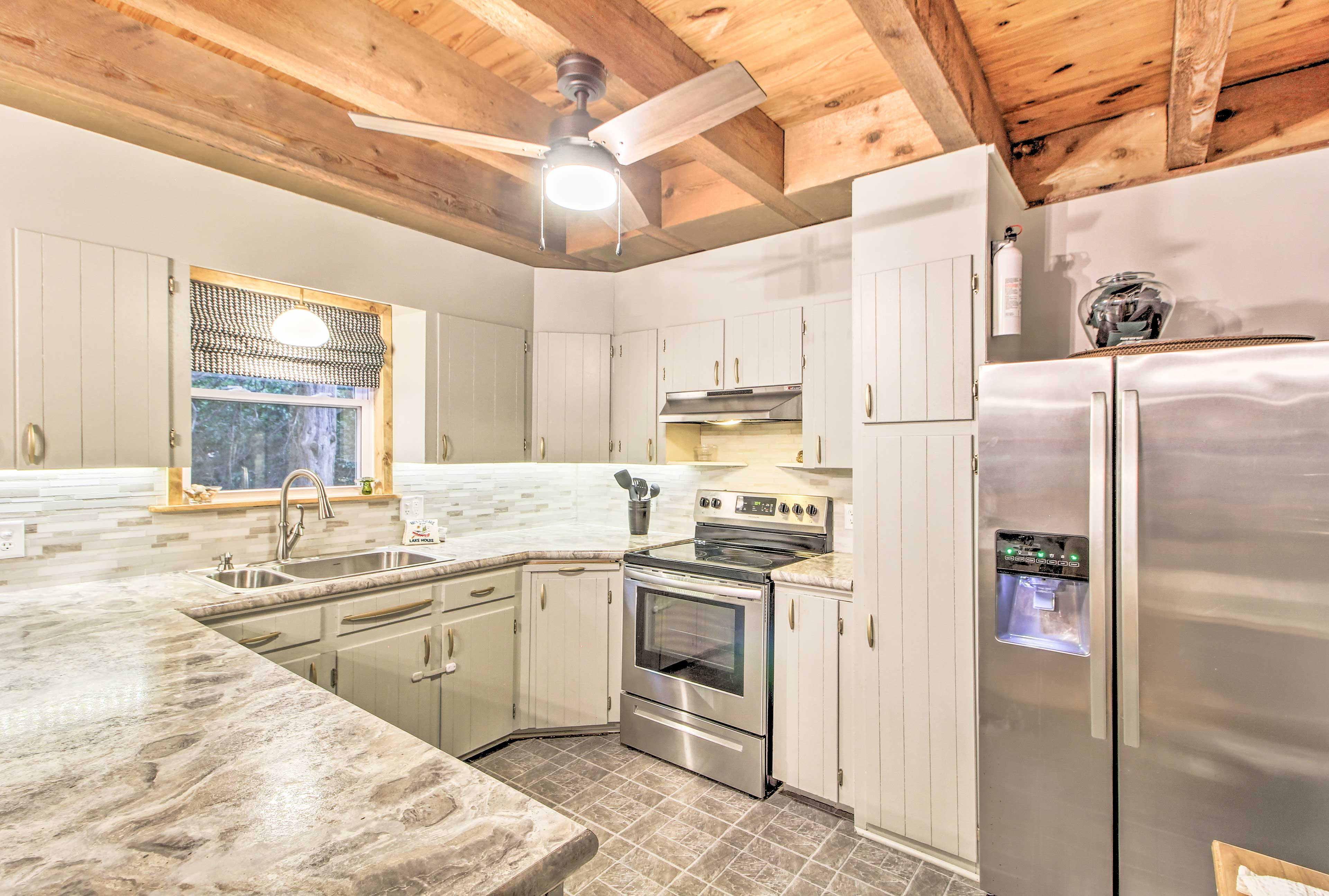 This kitchen is fully equipped to accommodate every size group.