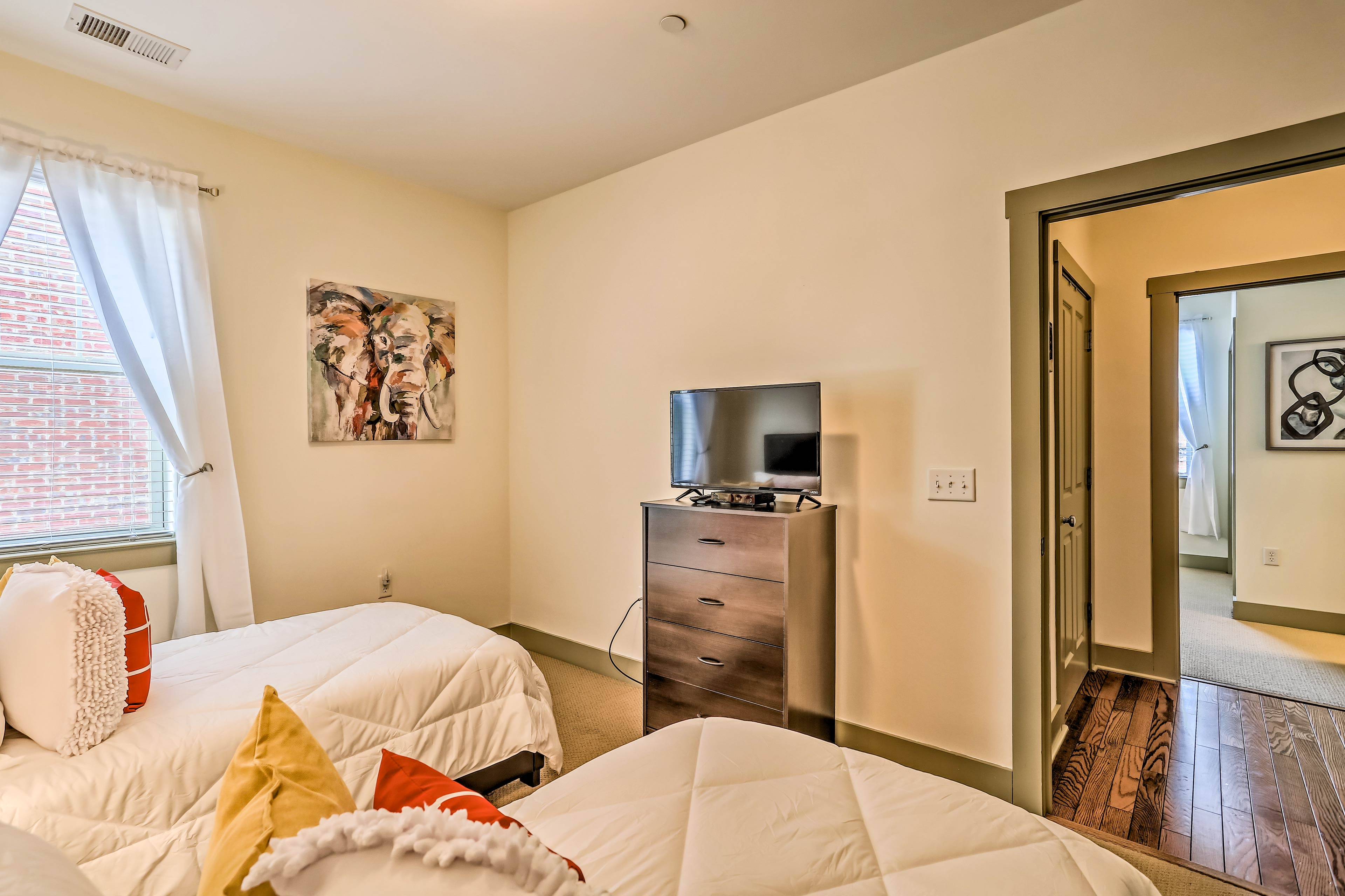 Each bedroom includes a TV!