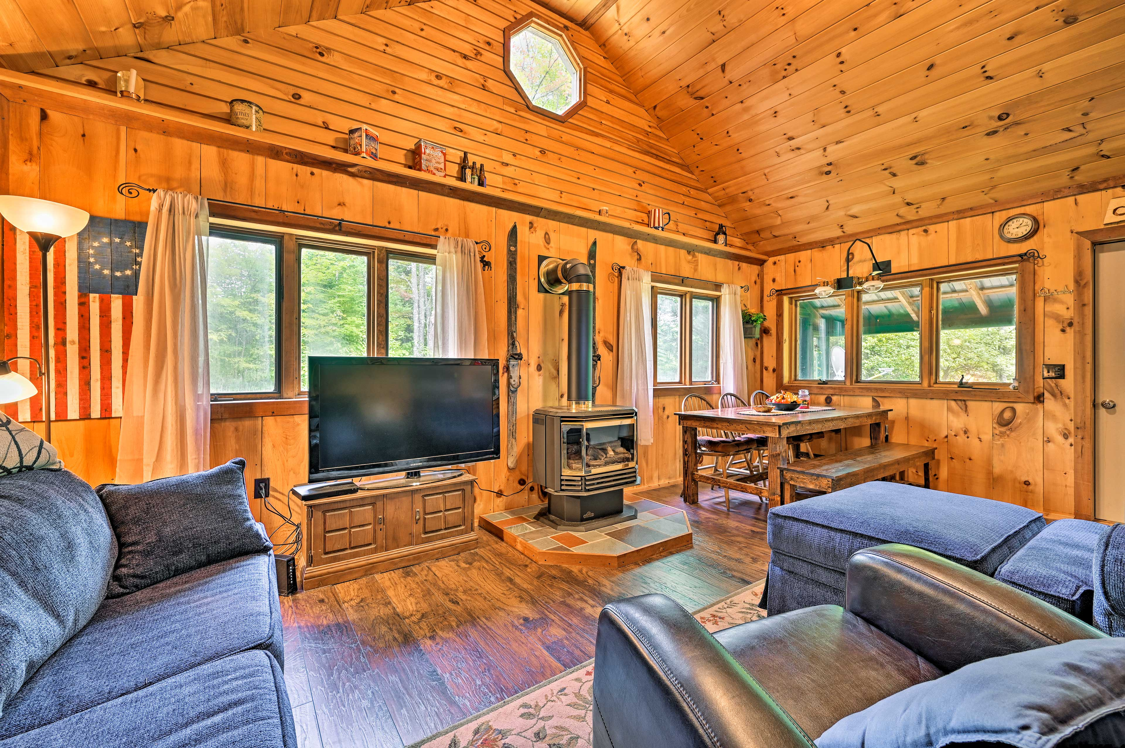 The well-appointed interior boasts all of the comforts of home!