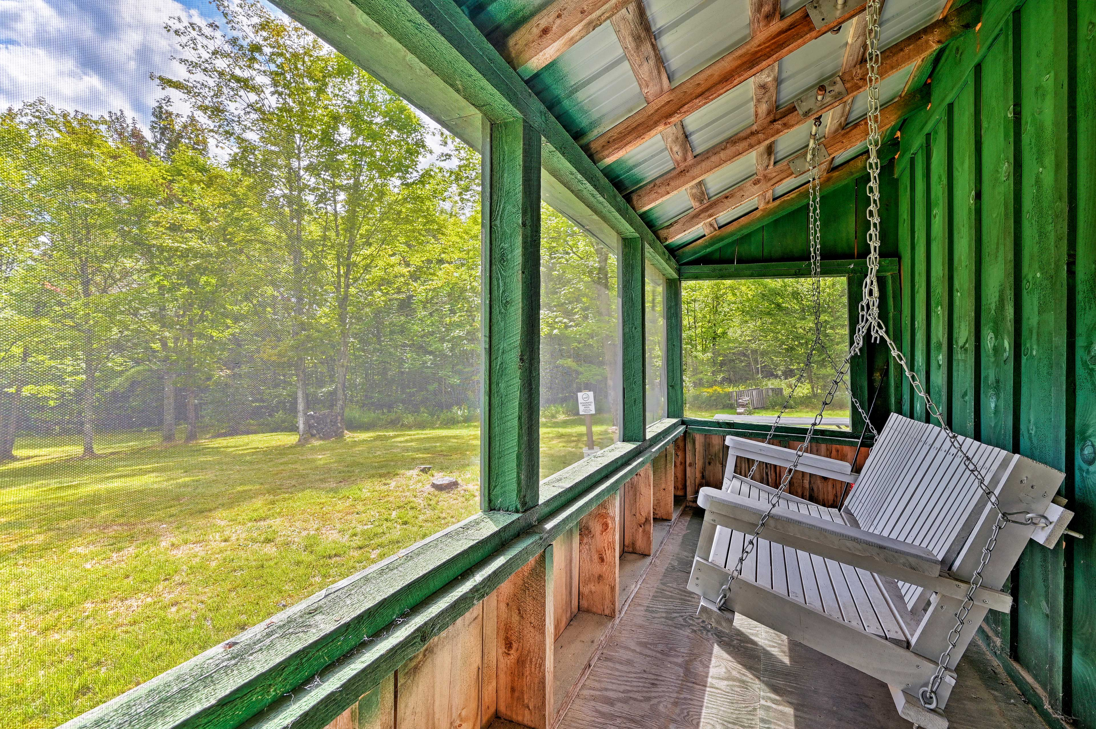 Get away to Vermont and stay at this Granby vacation rental cabin!