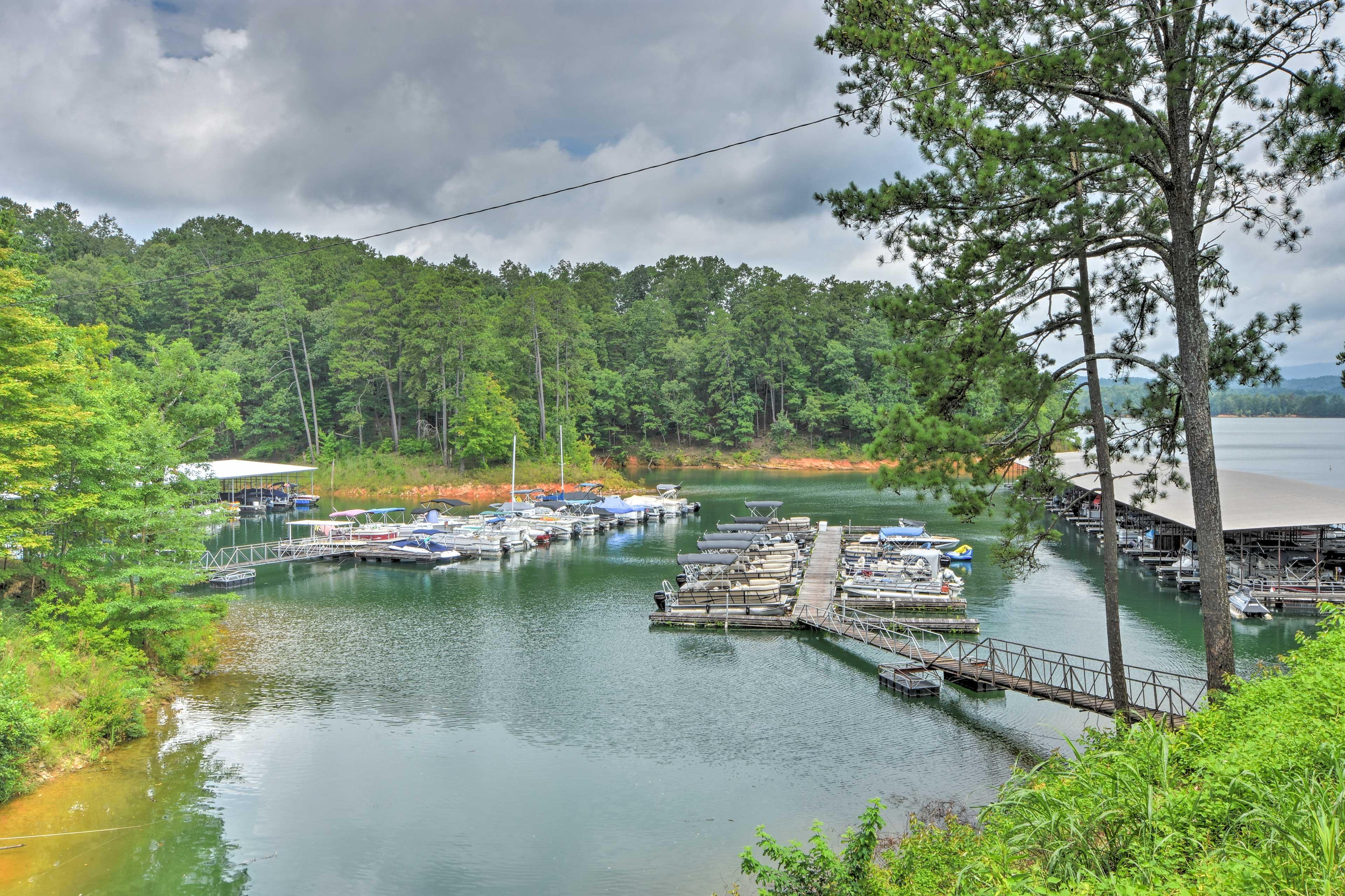 Carters Lake Marina & Resort is just over 12 miles away!