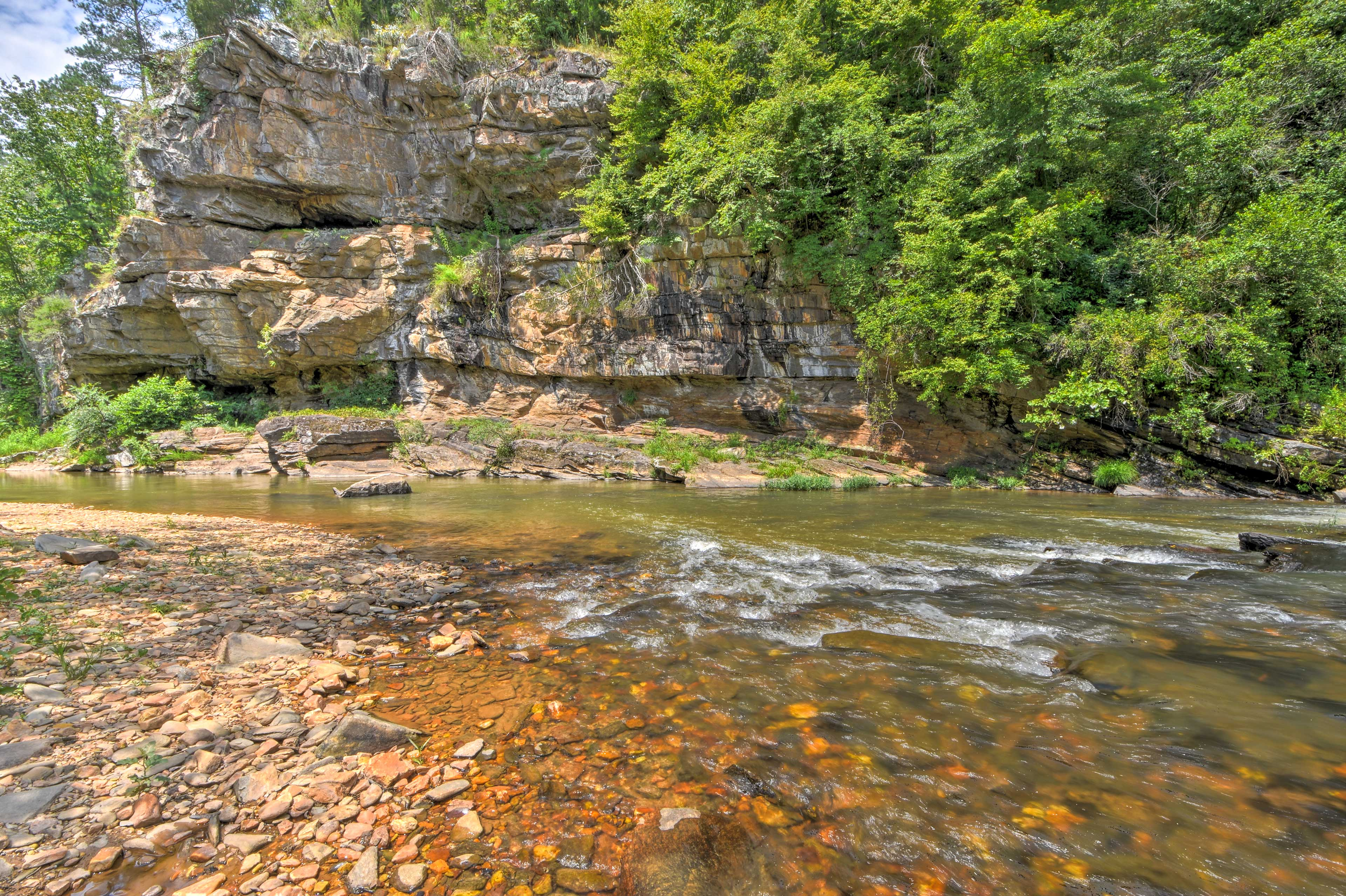 Spend relaxing hours listening to the sounds of Talking Rock Creek!