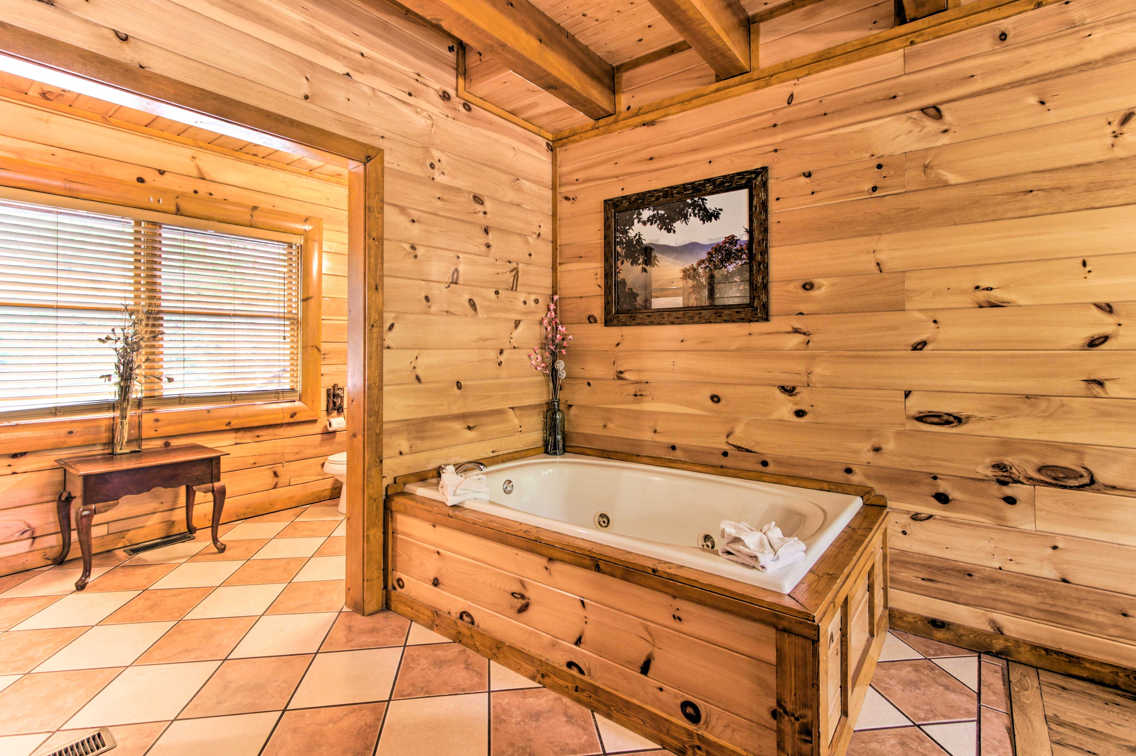 The en-suite bathroom will complete your stay.