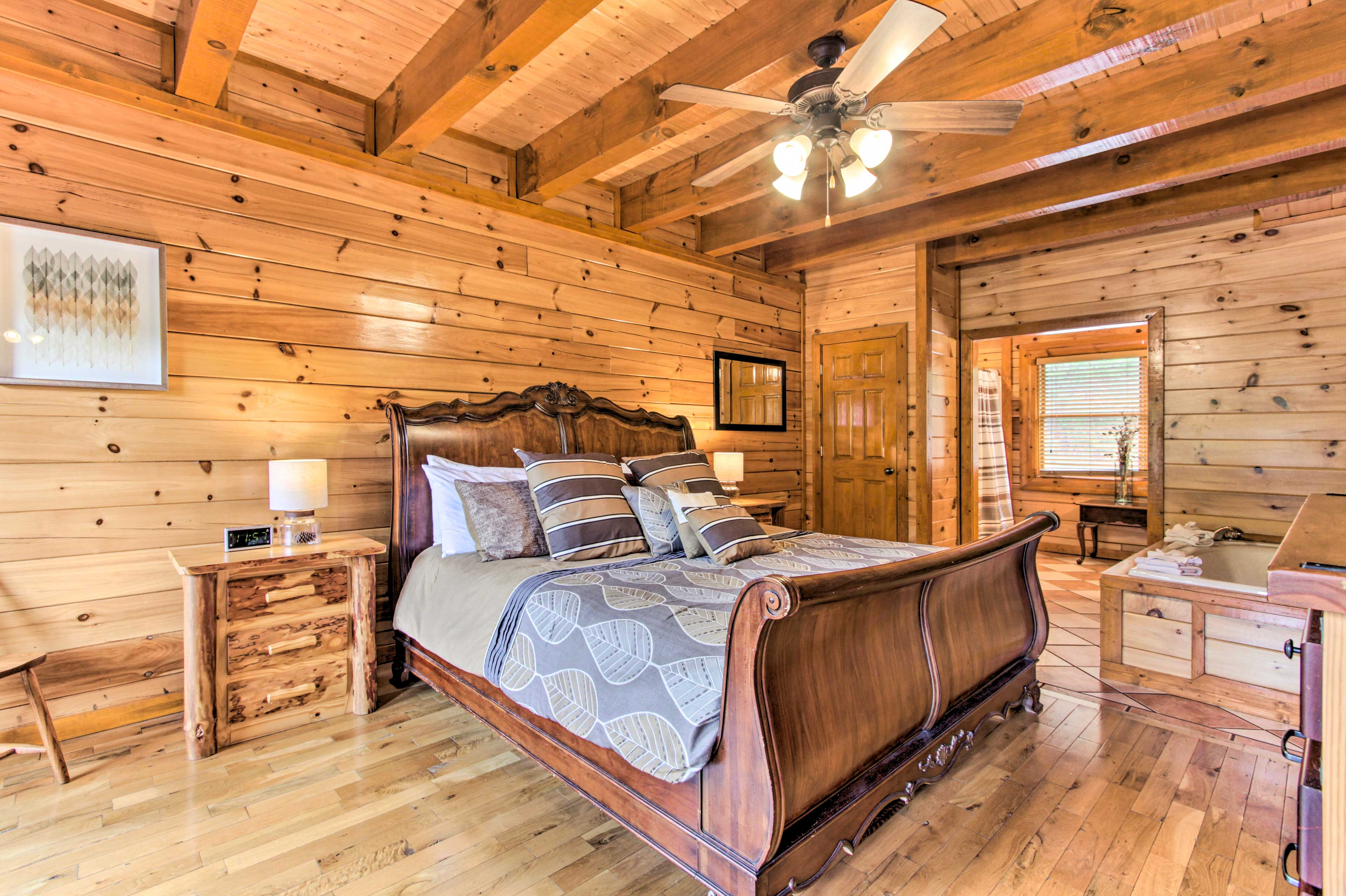 You get to choose from 5 bedrooms with king beds!