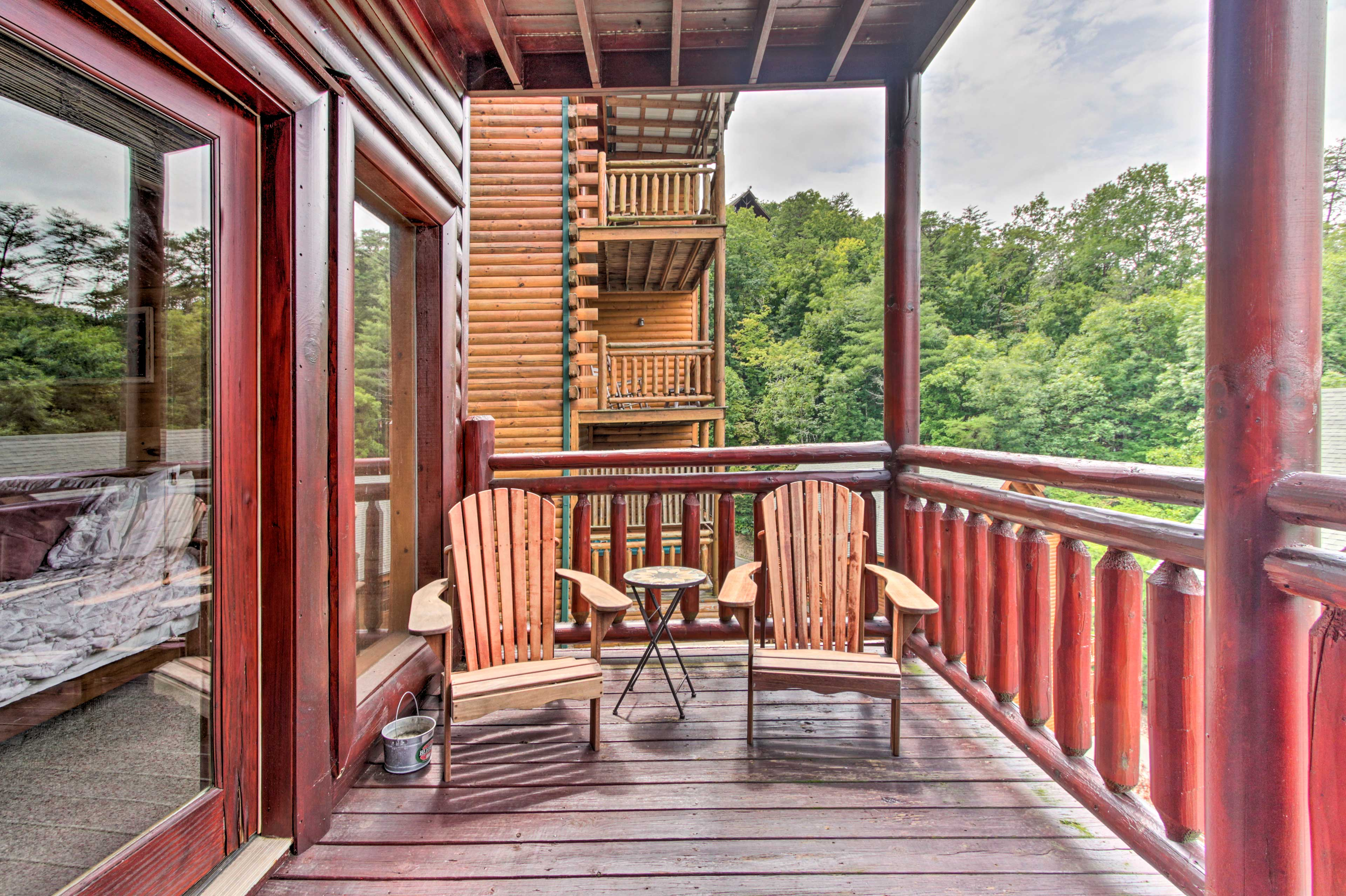 Sit put on the deck and take in the fresh air.