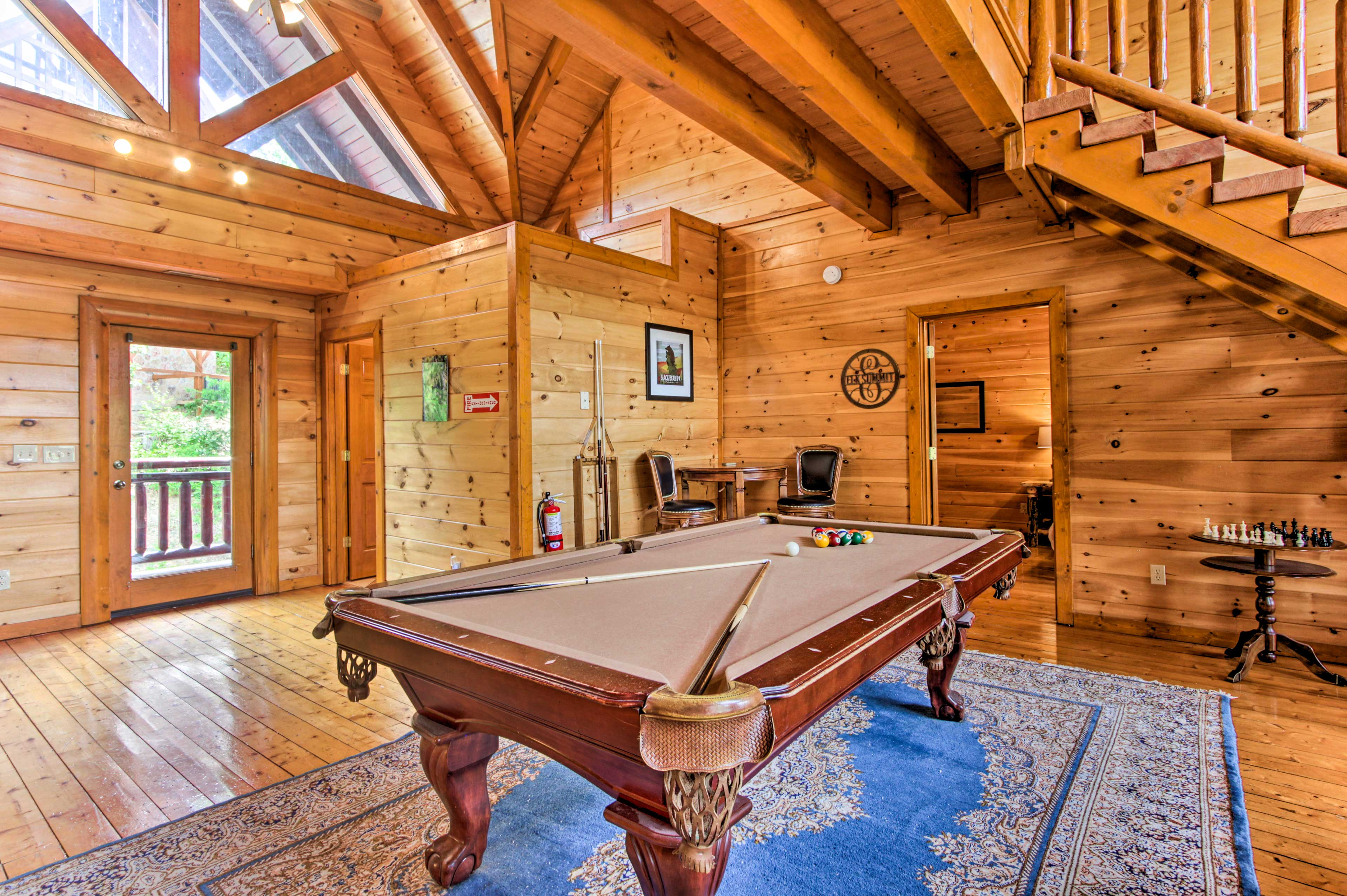 Challenge the family to a billiards competition.