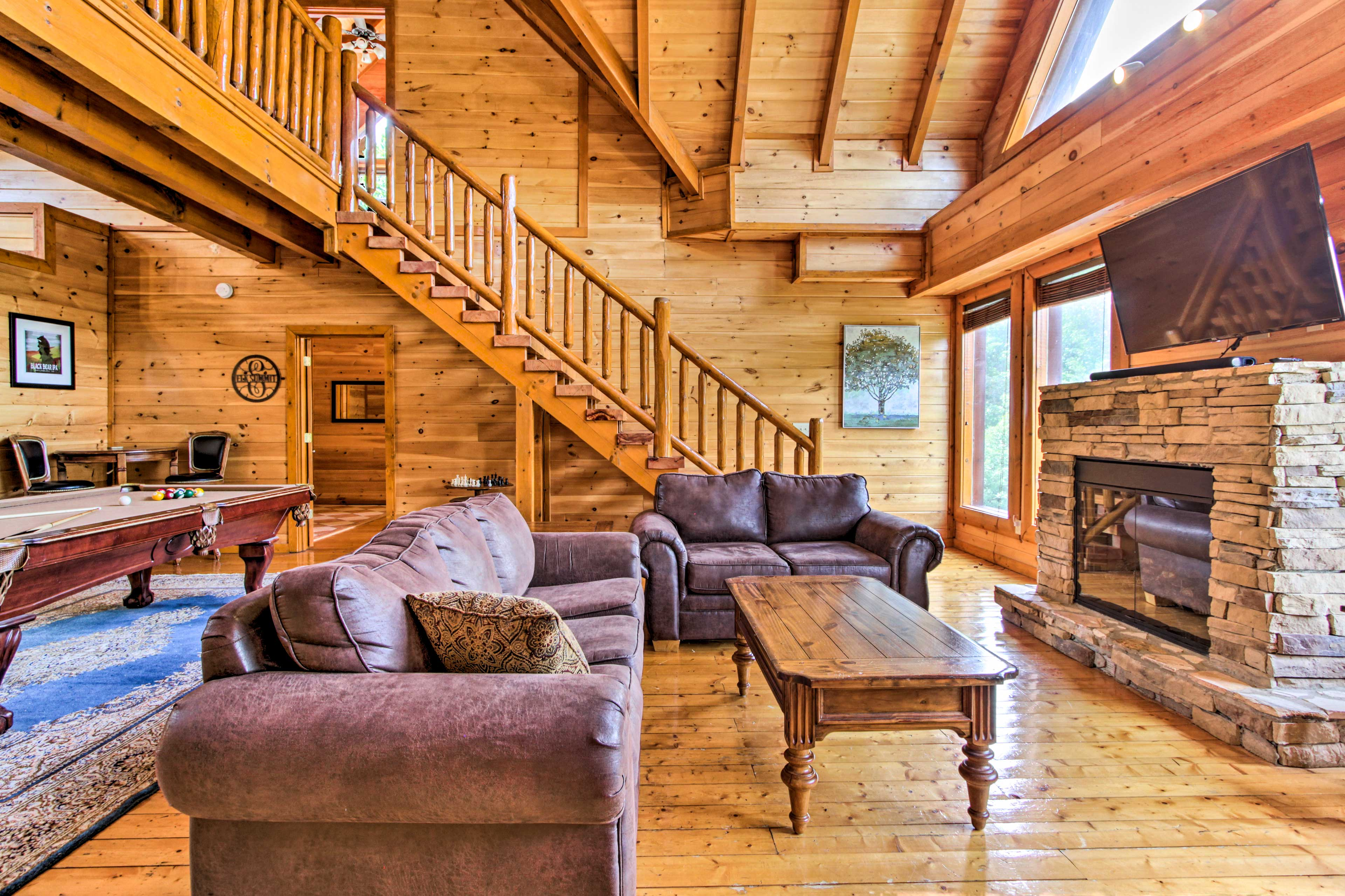 This home boasts 2 separate living rooms.