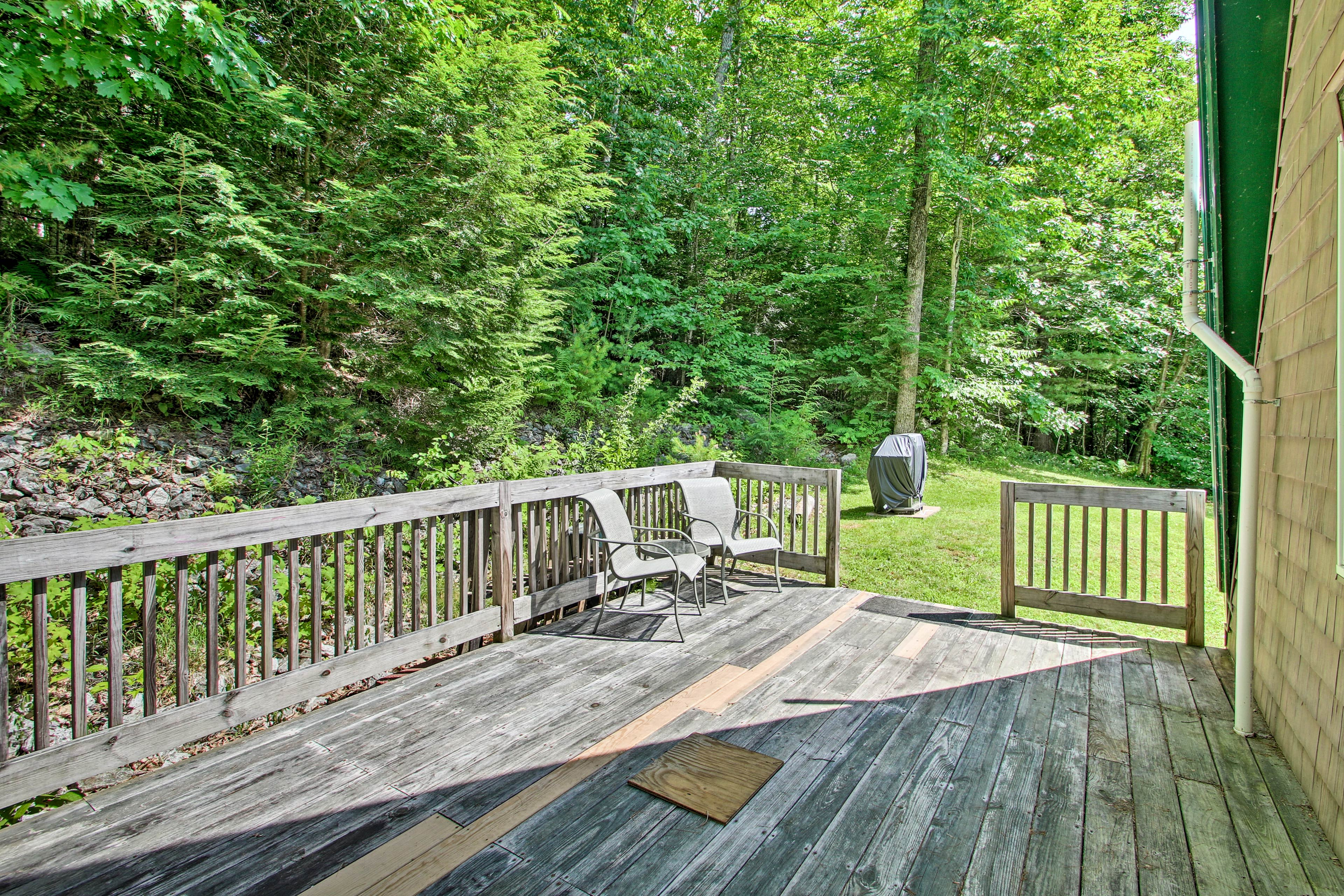 Bring your morning coffee out to the deck.