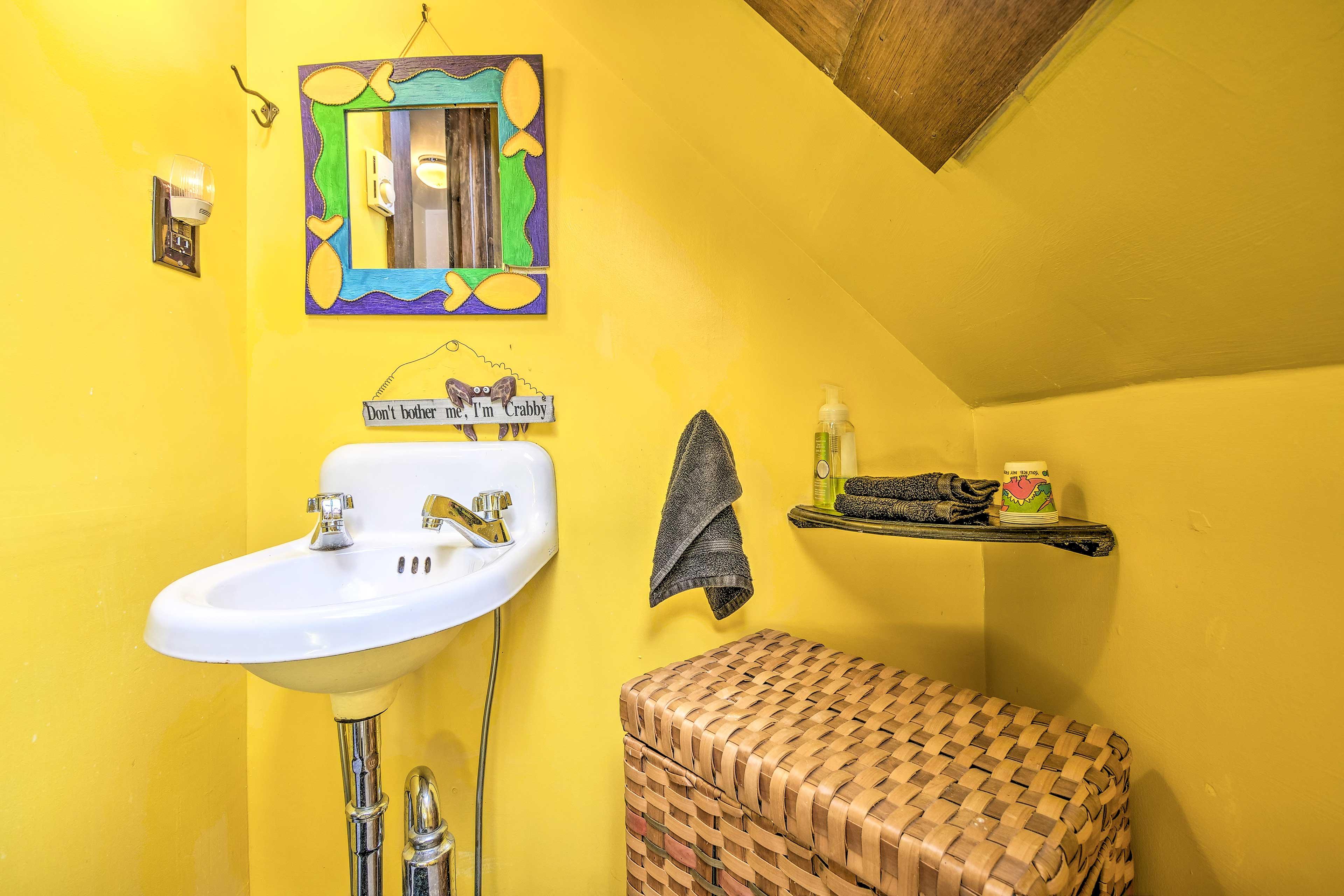 Brighten up your morning in bathroom 2.