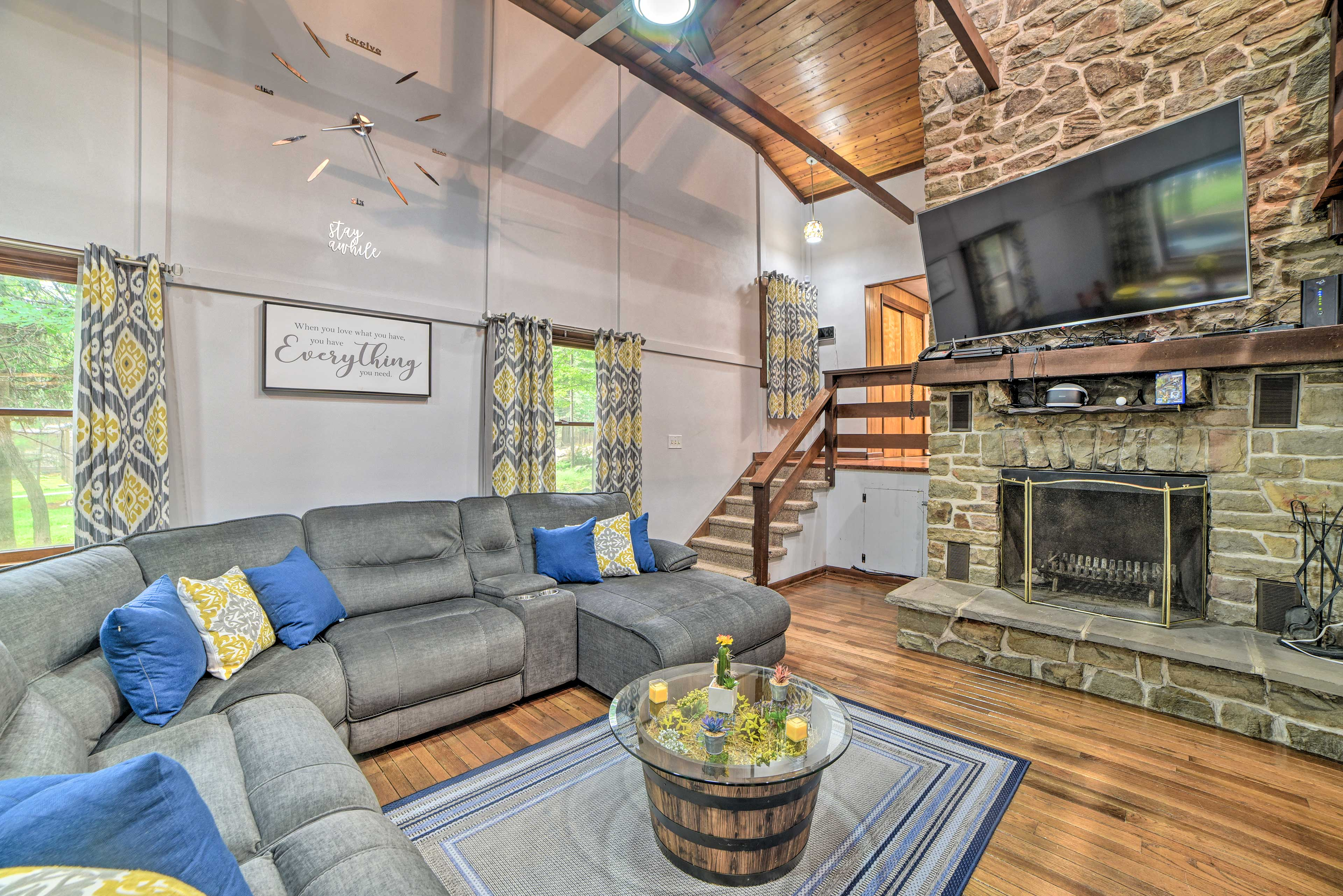 Gather together at this 4-bedroom, 2-bath Pocono Mountains home!