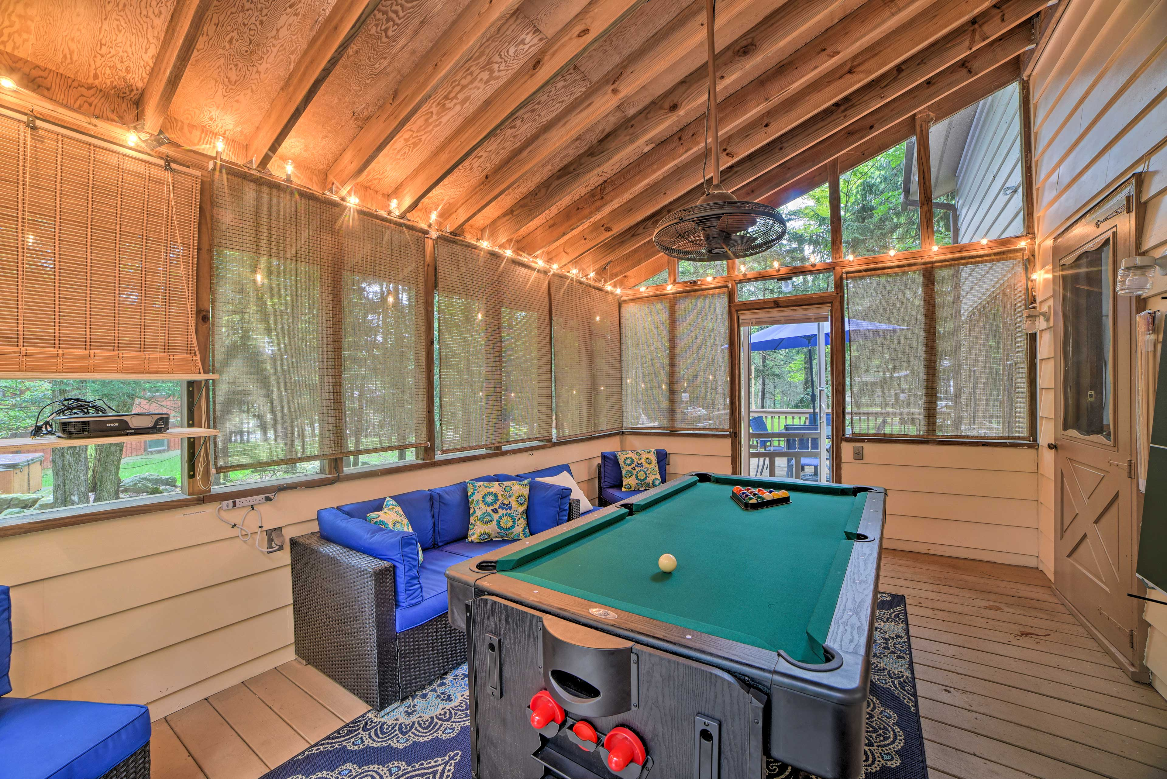 Grab a pool stick for a game of billiards.