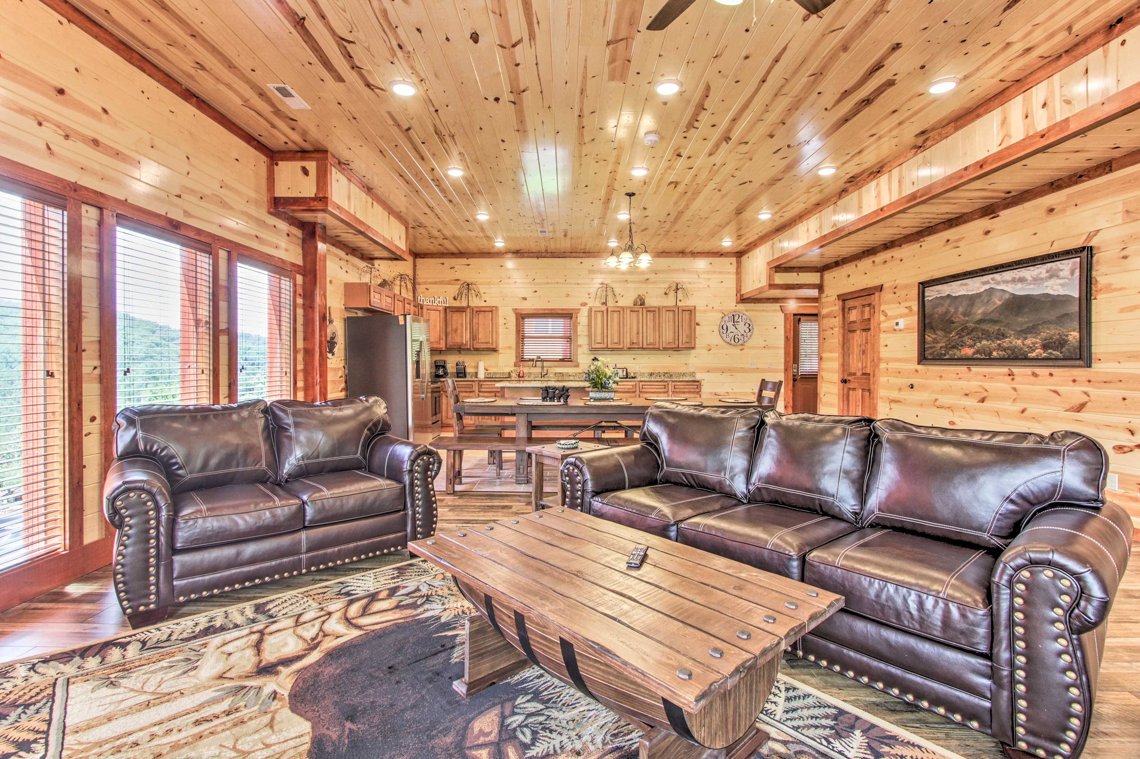 Sevierville Vacation Rental Cabin | 6BR | 7BA | 5,000 Sq Ft | Steps Required