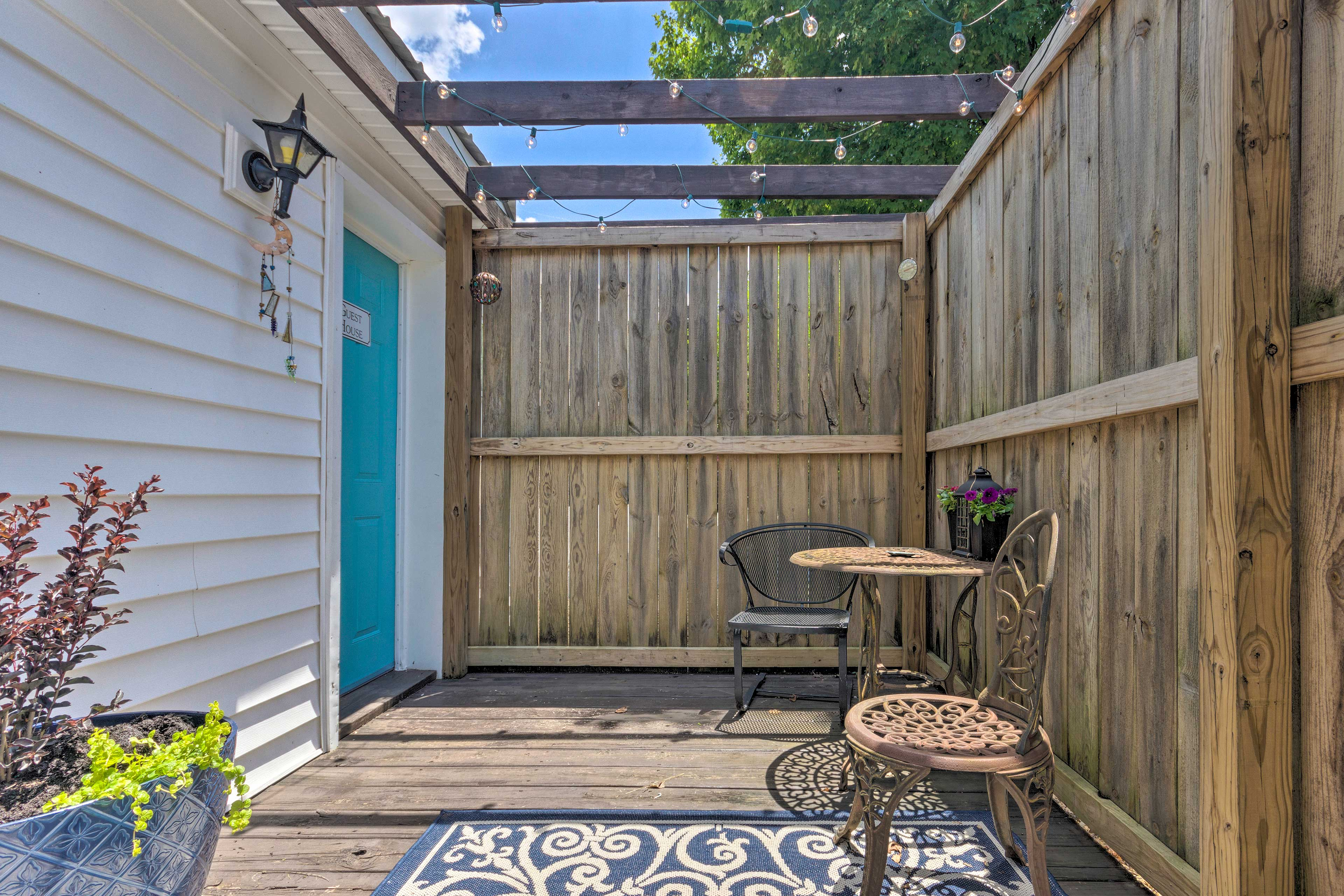 Get some fresh air on the updated back patio!