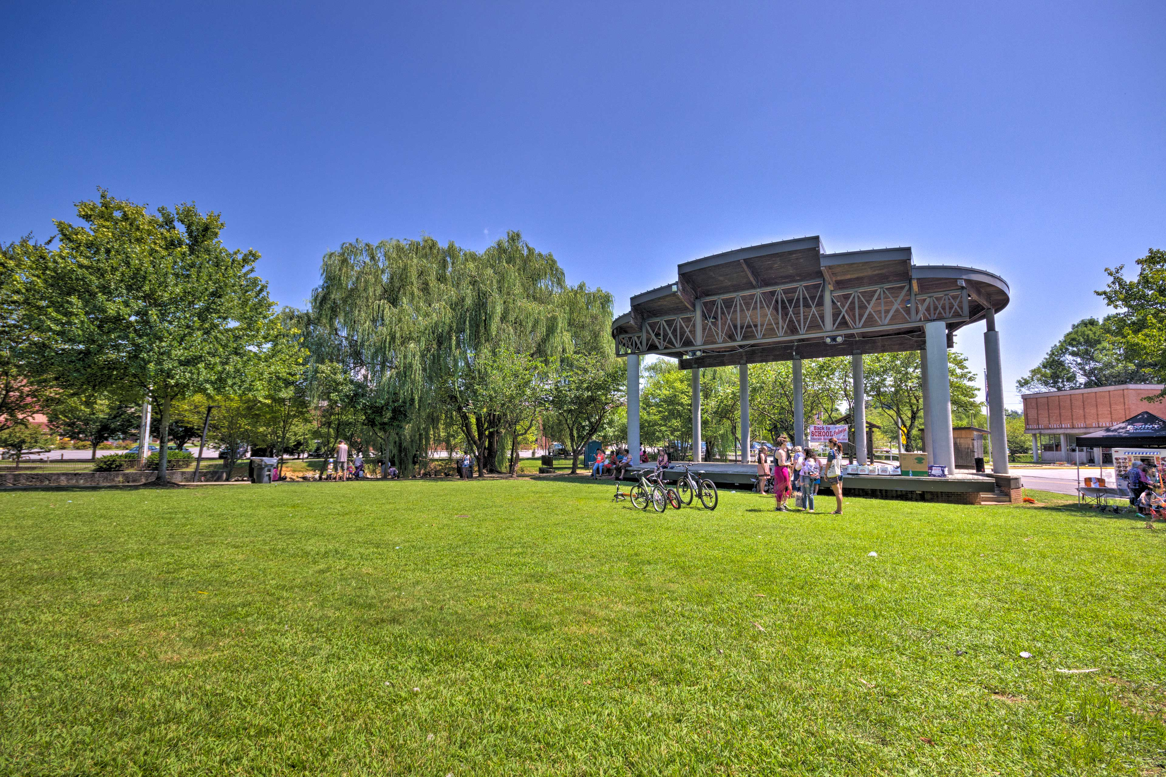 Enjoy leisurely strolls through the park.