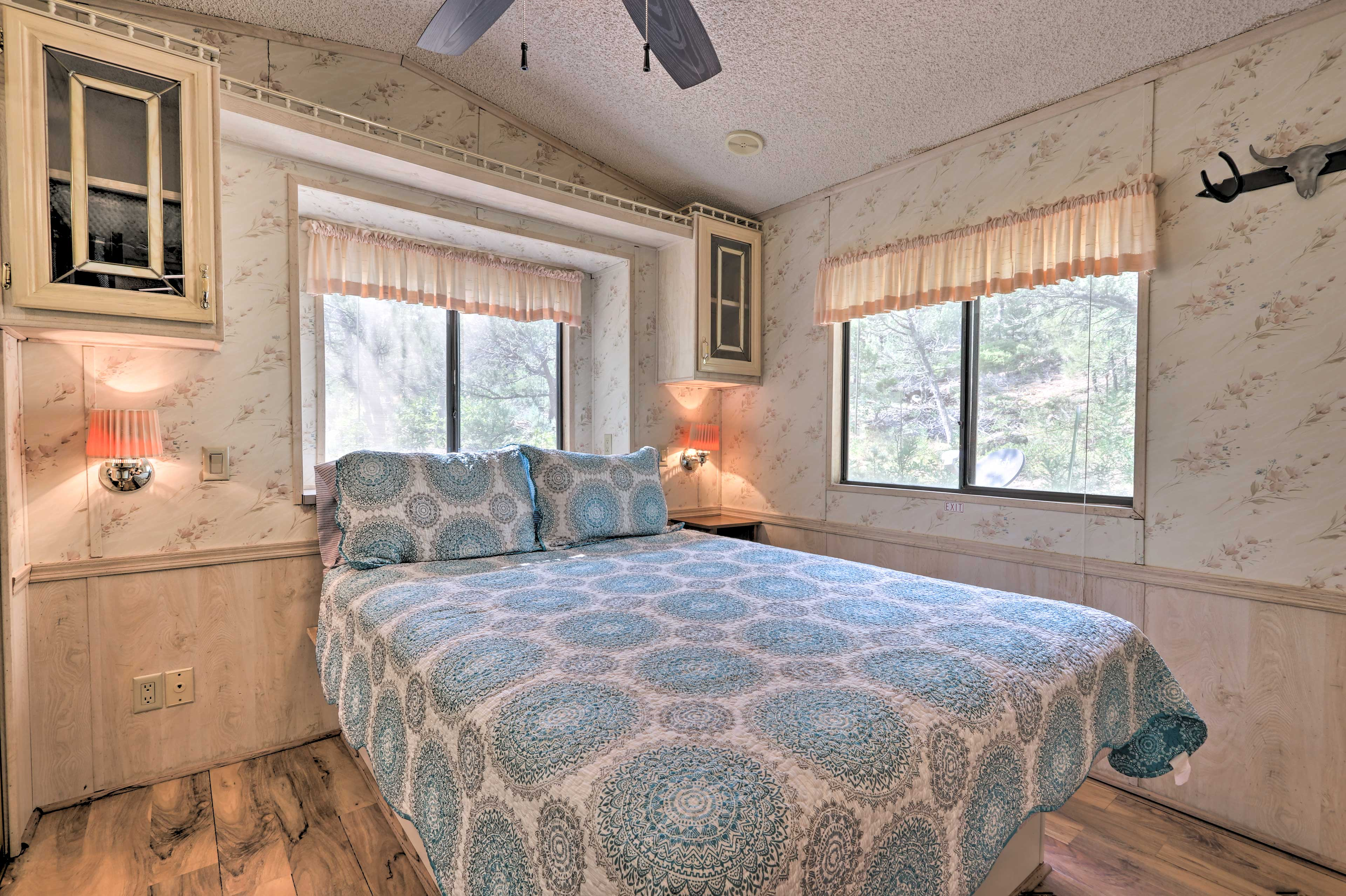 Both bedrooms are home to queen-sized beds.
