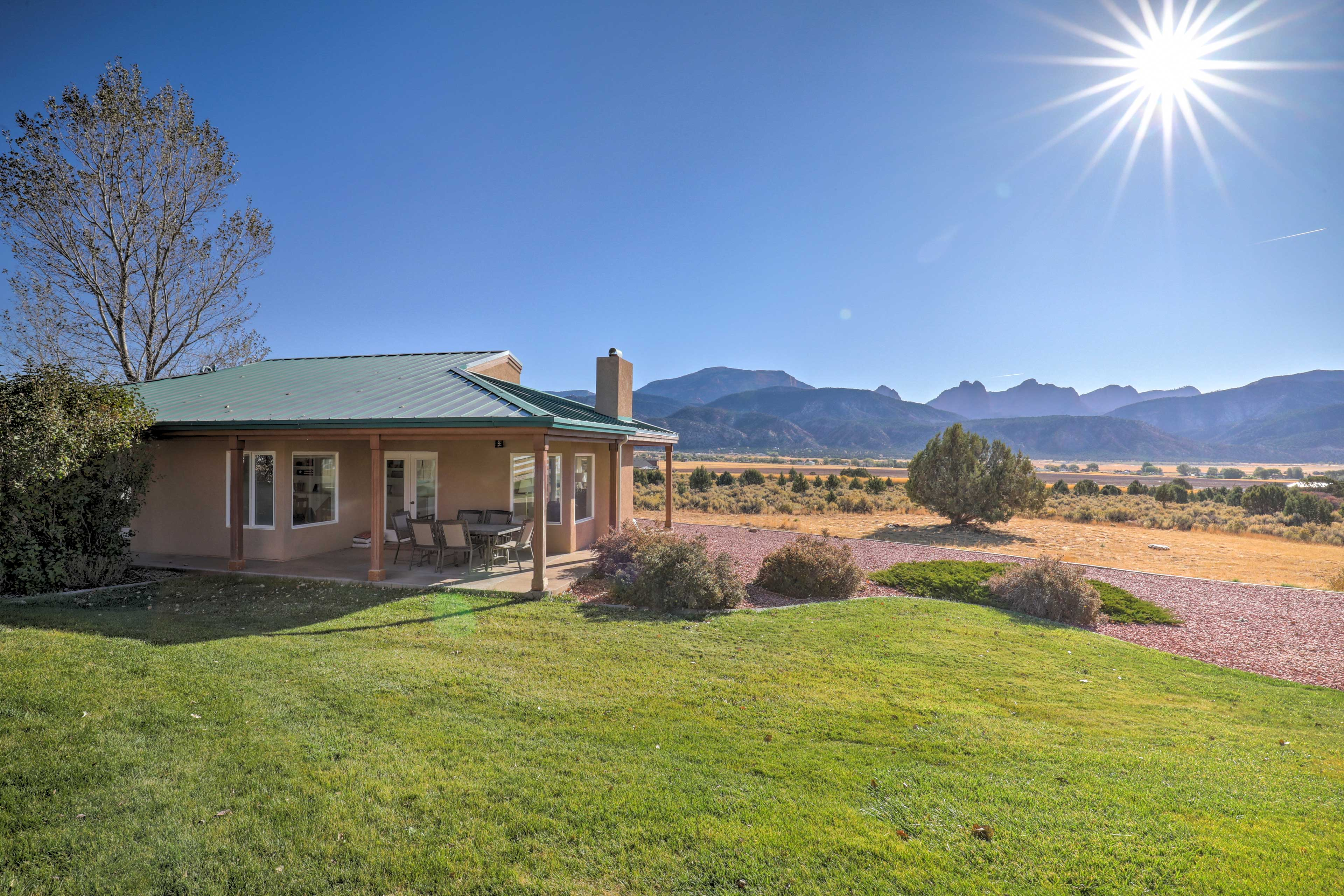 Stunning views of the Kolob Canyons highlight this scenic 19-acre property.