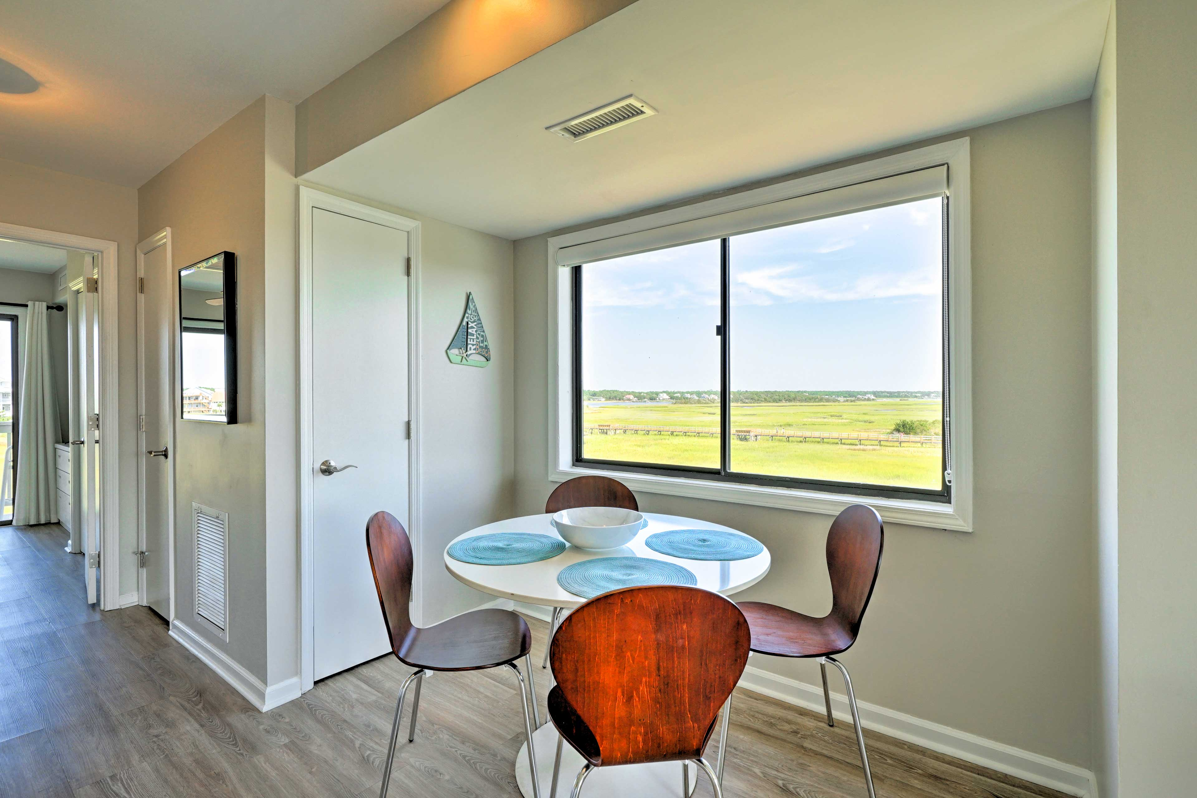 Take in views of the marshes while you eat!