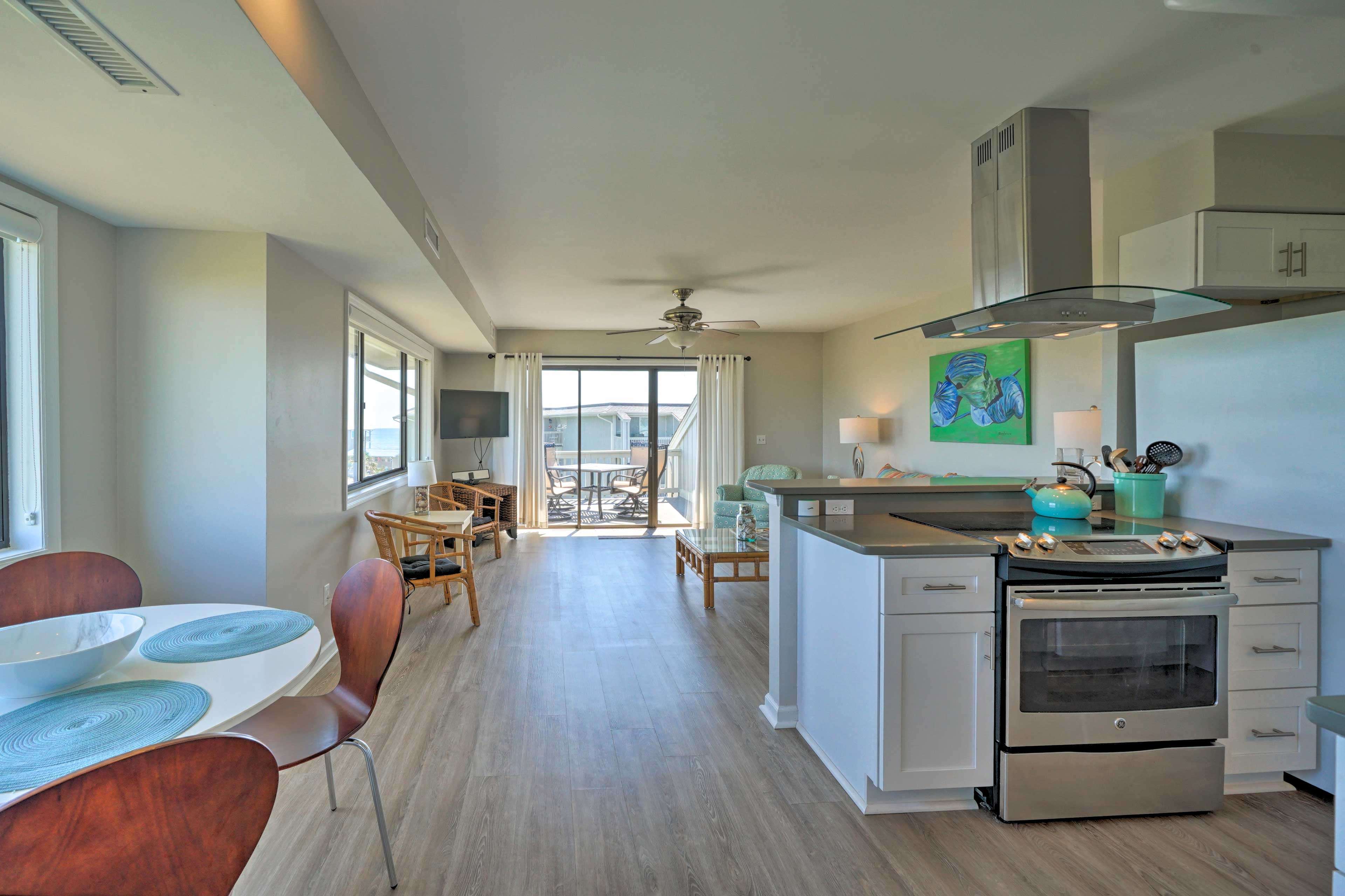 Enjoy the open spaces of this breezy condo.