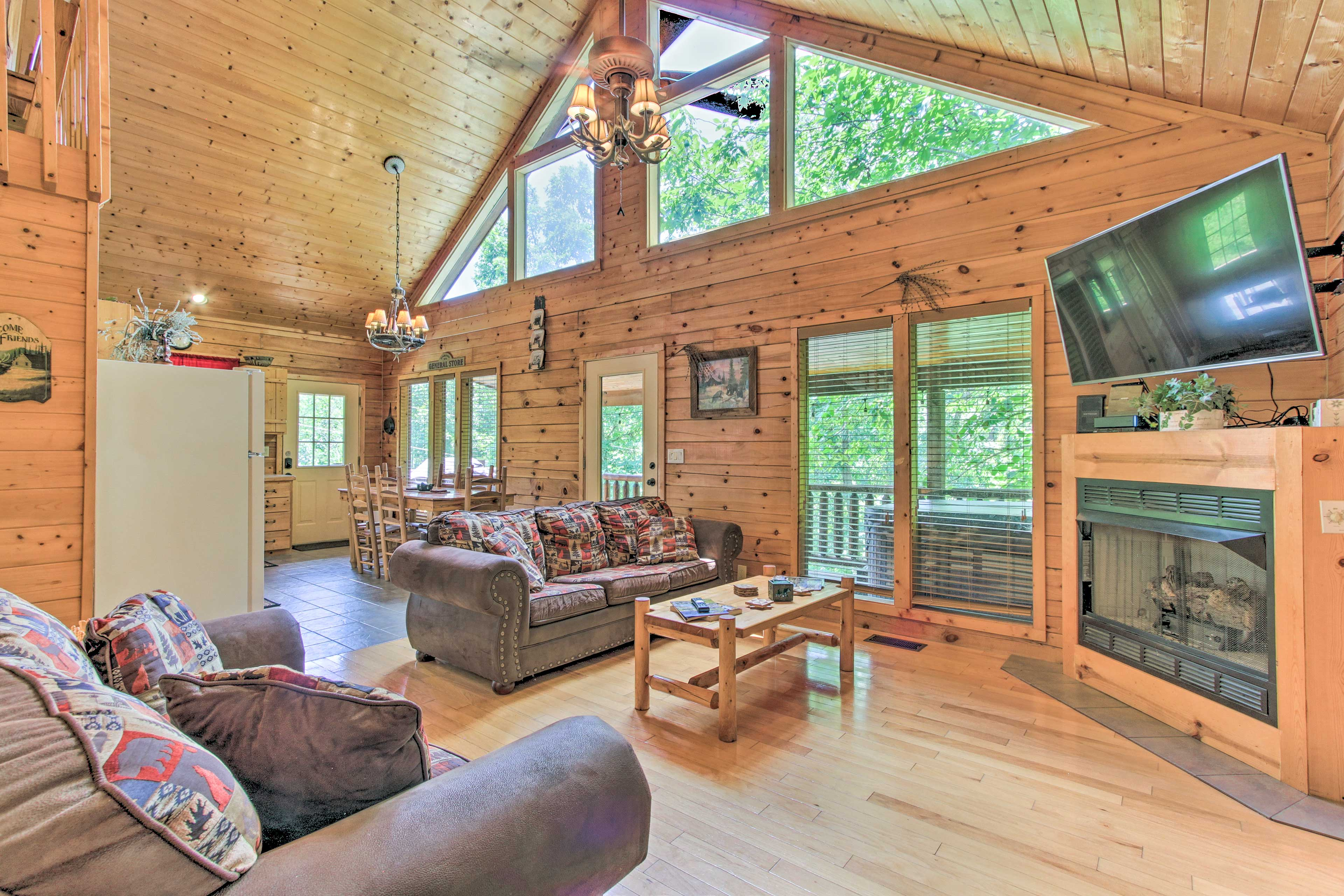 The Sevierville home is the ideal escape!