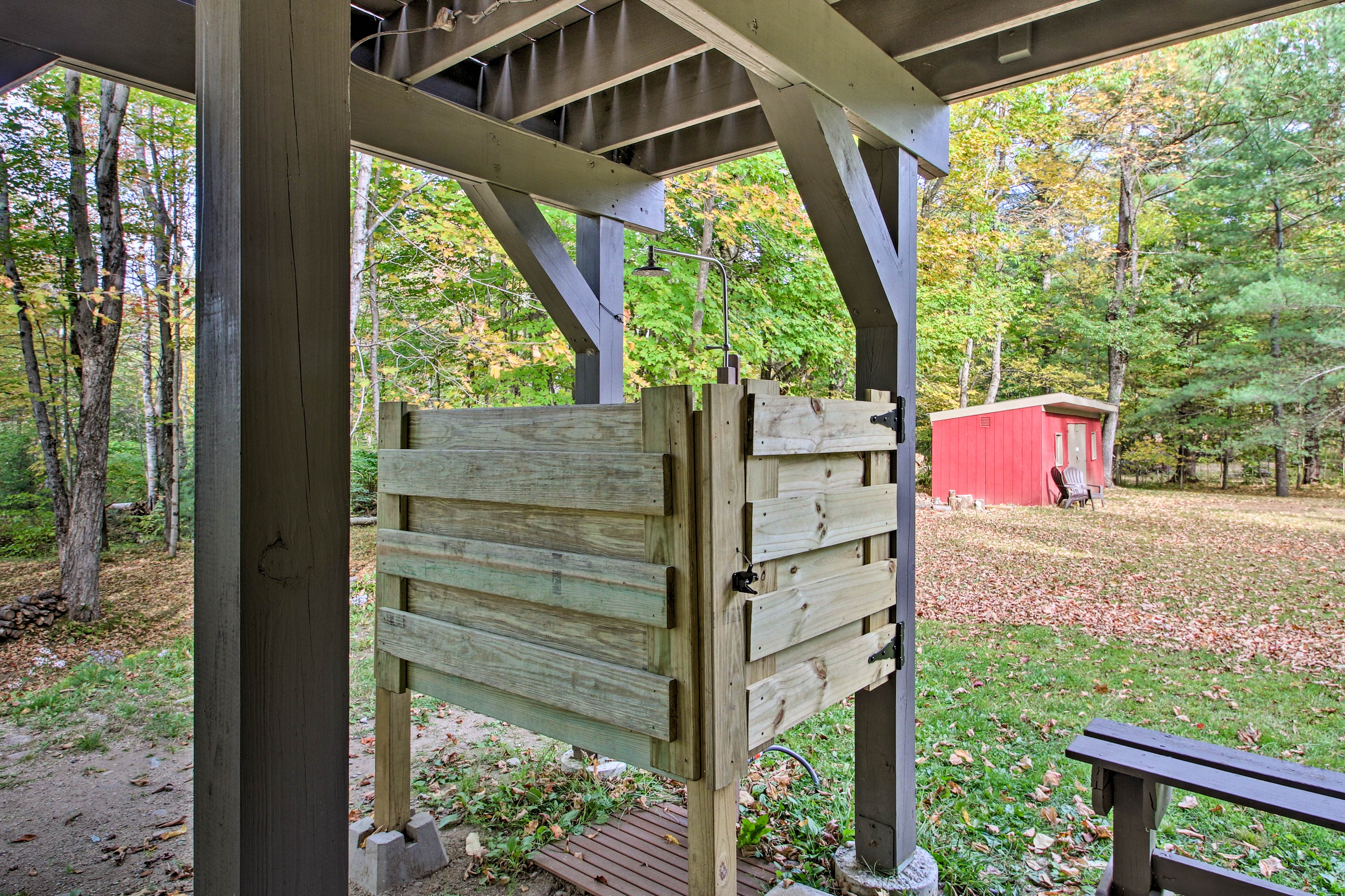 Tired of indoor showers? Use the custom outdoor one!