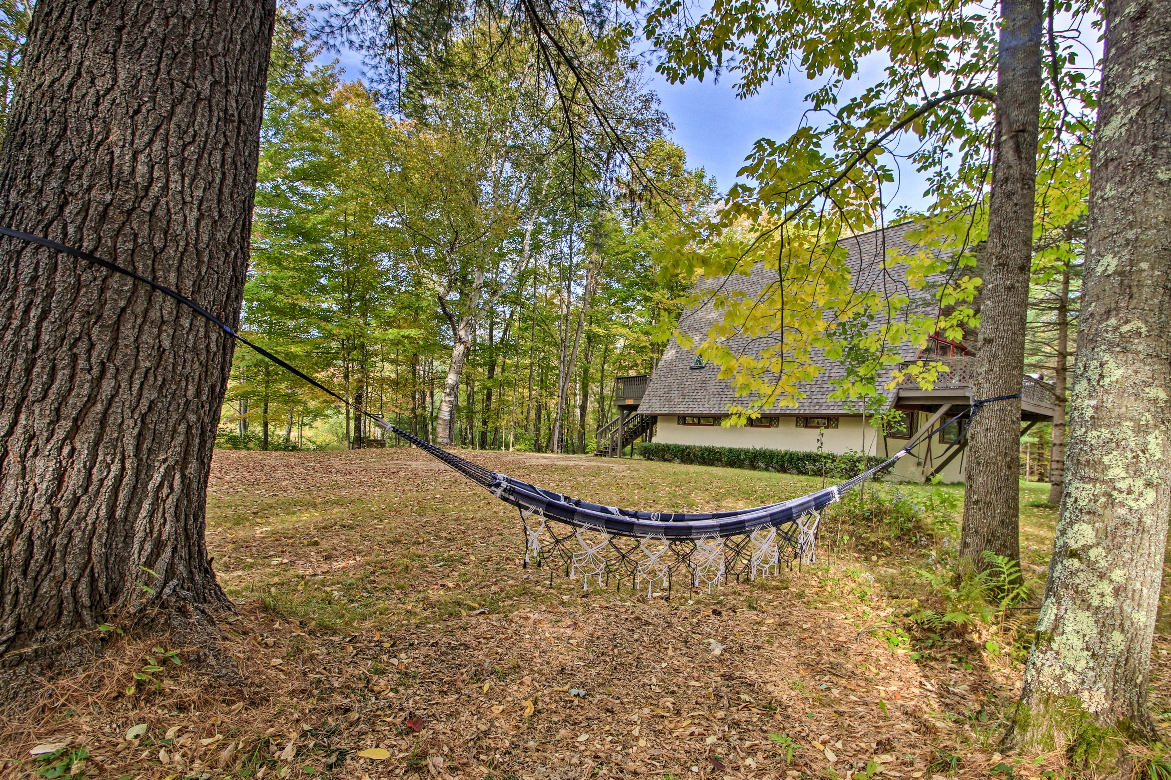 The hammock is ideal for lounging!