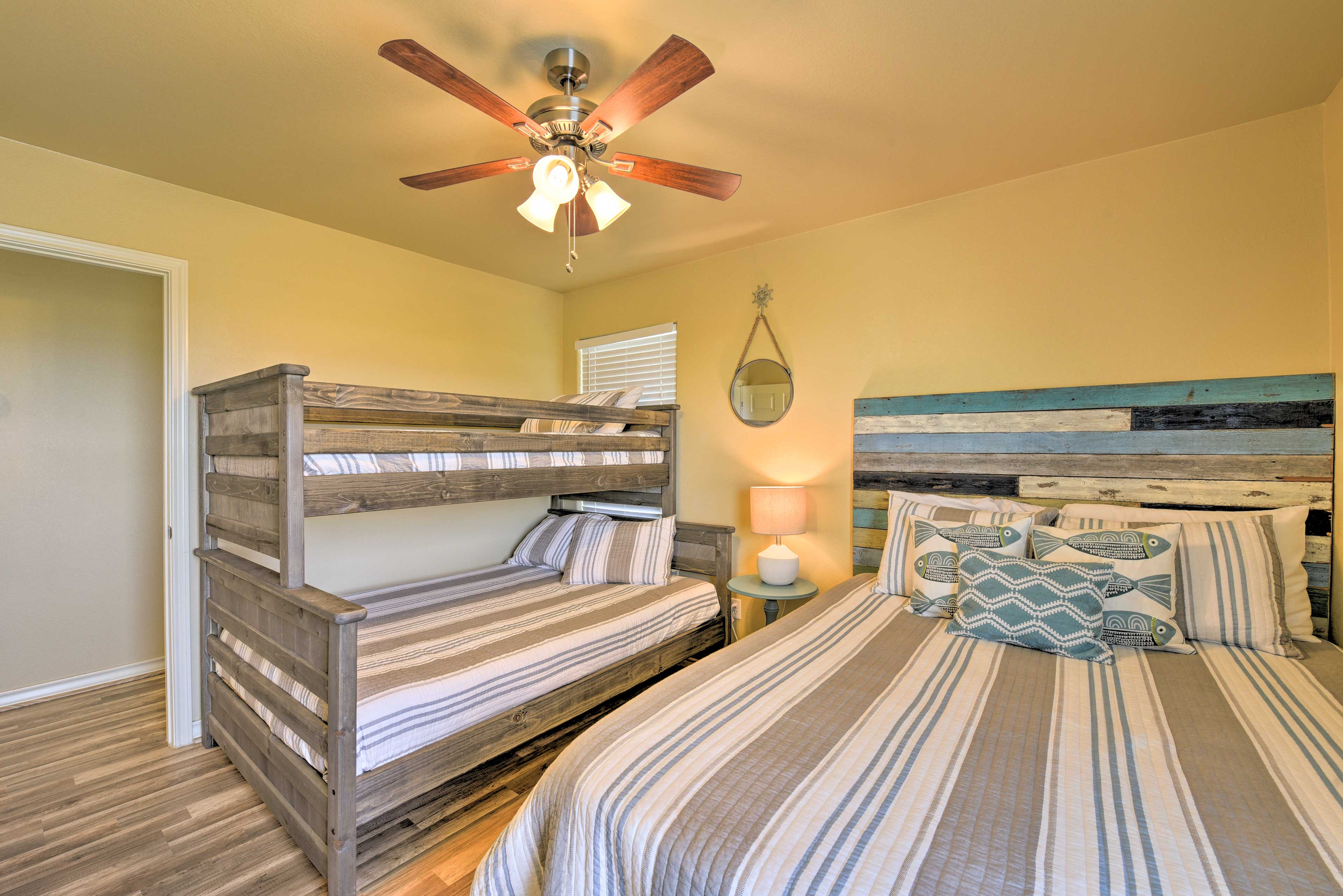 Natural light illuminates the third bedroom.