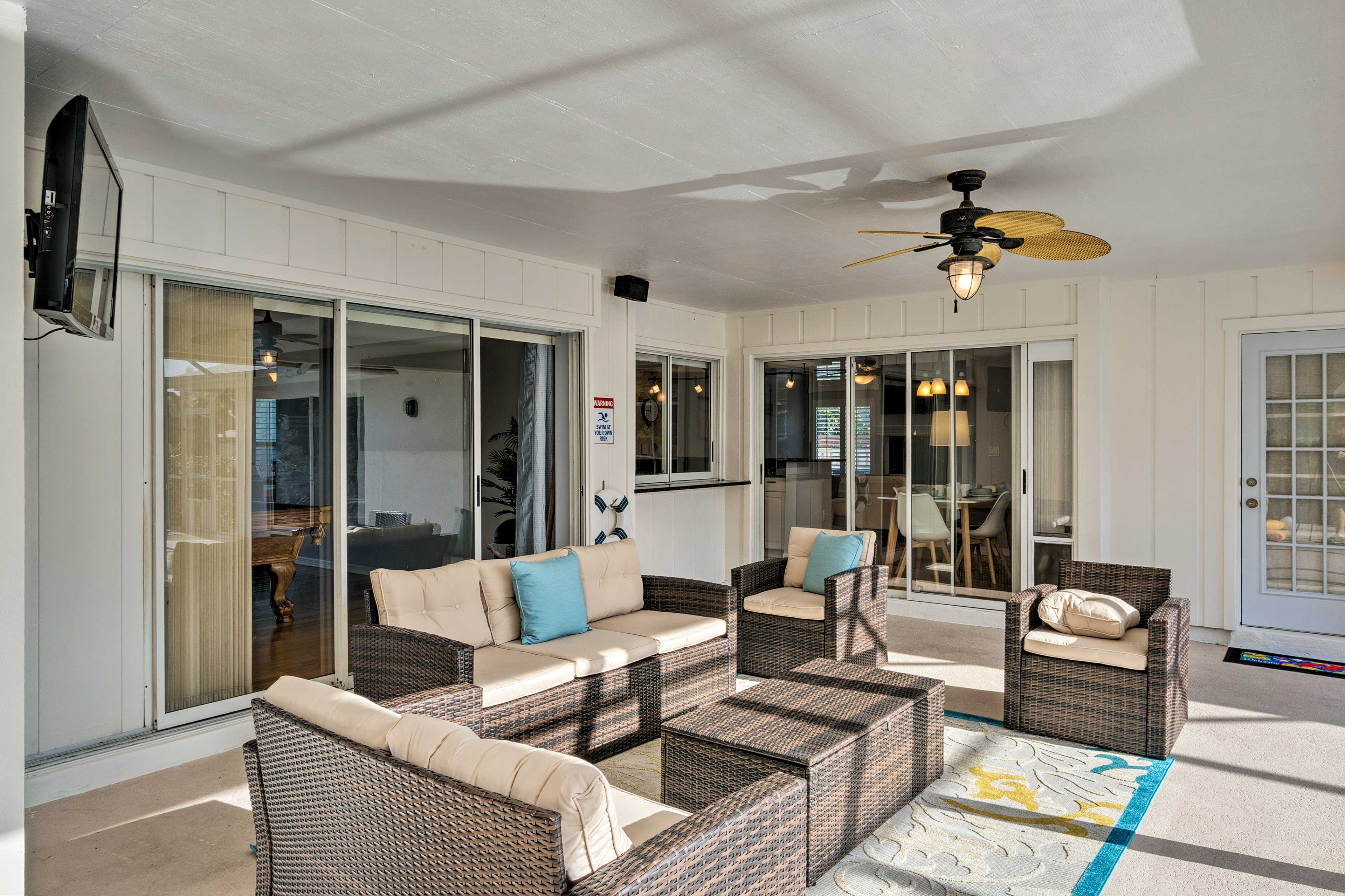 Enjoy the Florida weather in your outdoor living room.