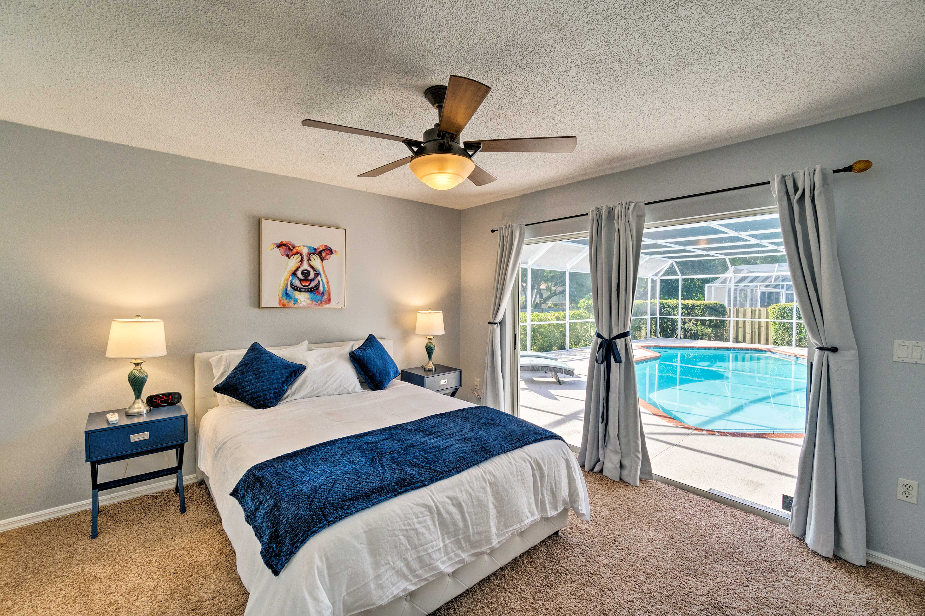 You'll love waking up in bedroom 2 and walking out to the pool!