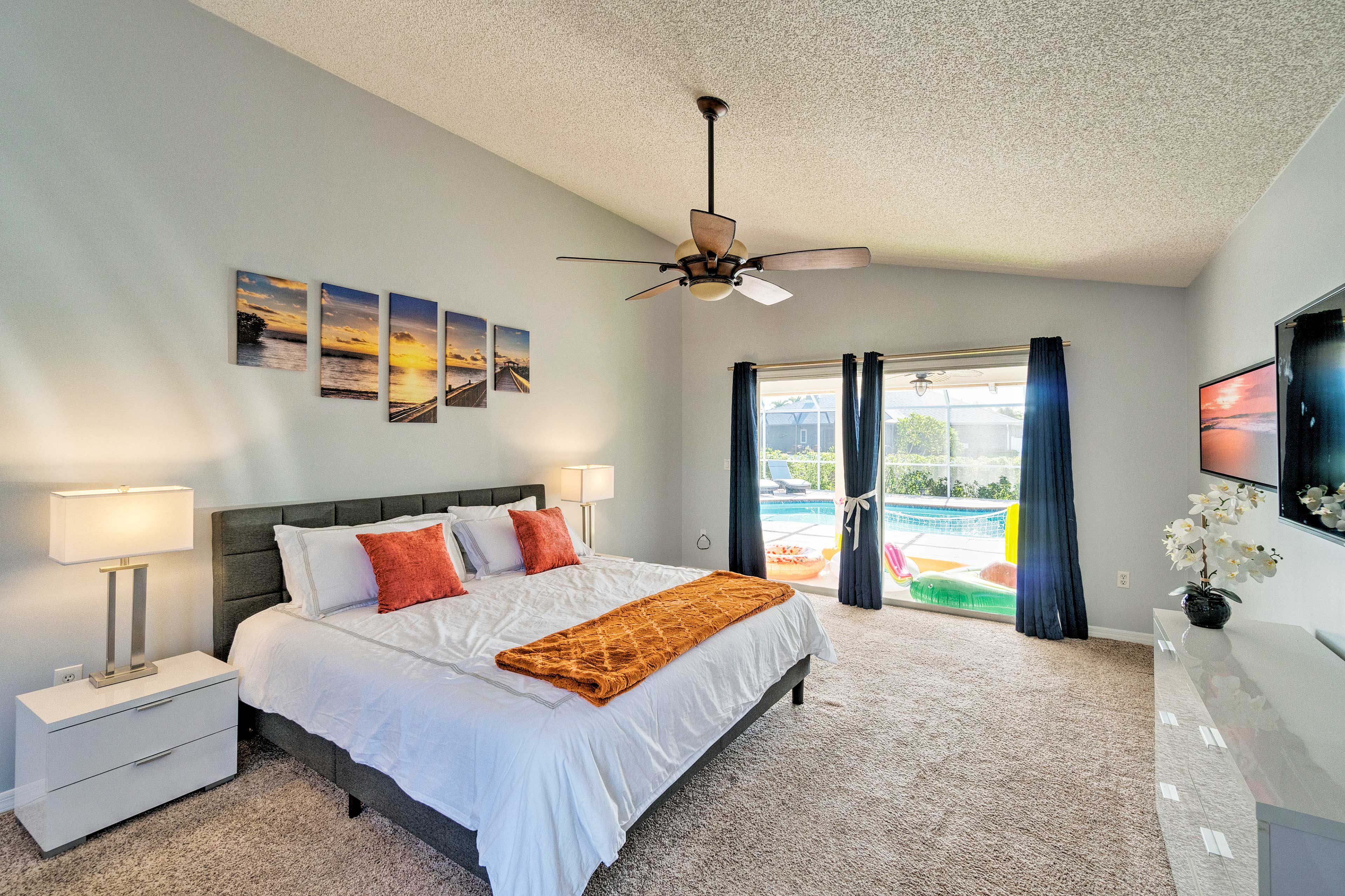 Sleep will come easy in this spacious master suite with a king bed.
