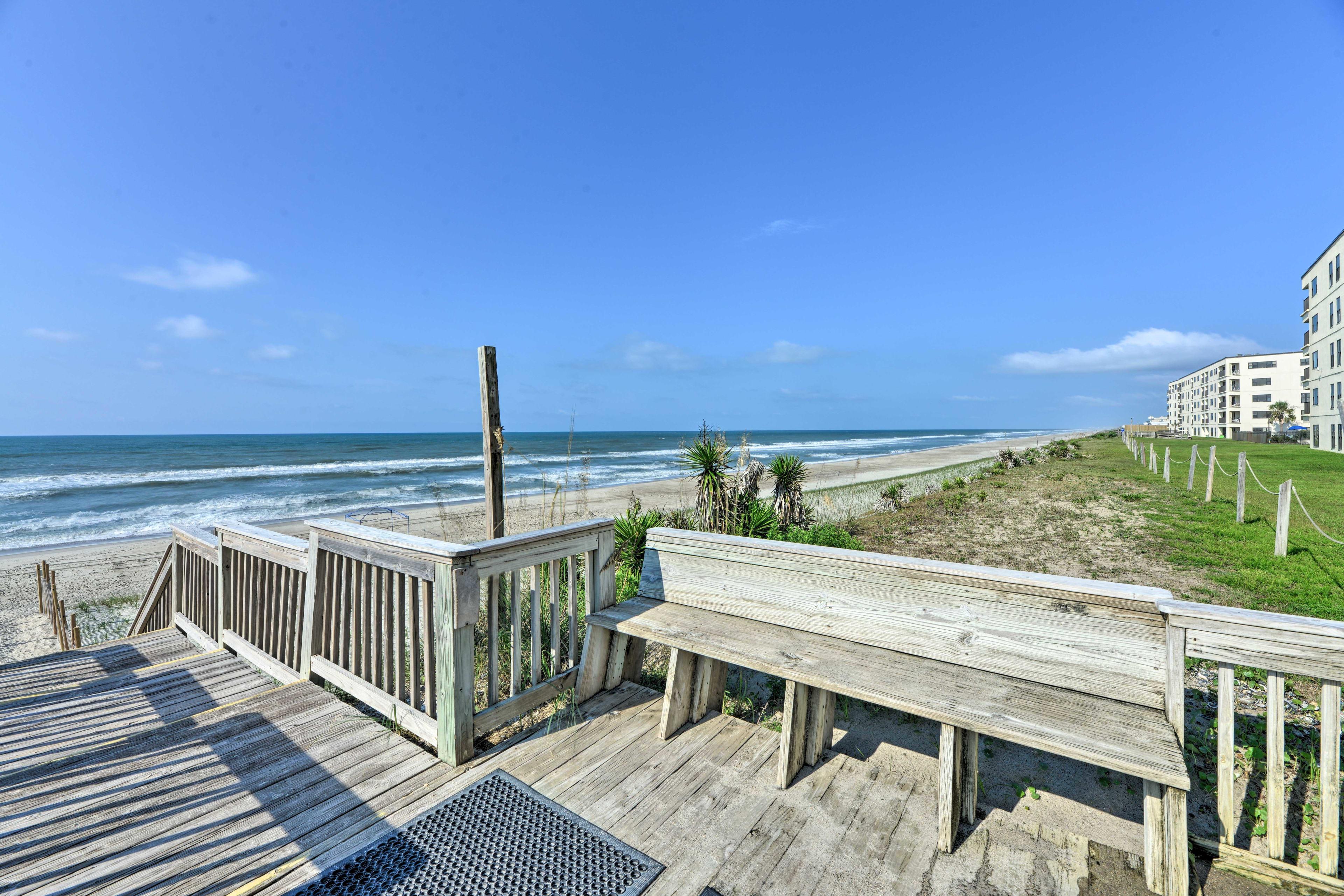 The ocean is just a short walk from your complex's back door!
