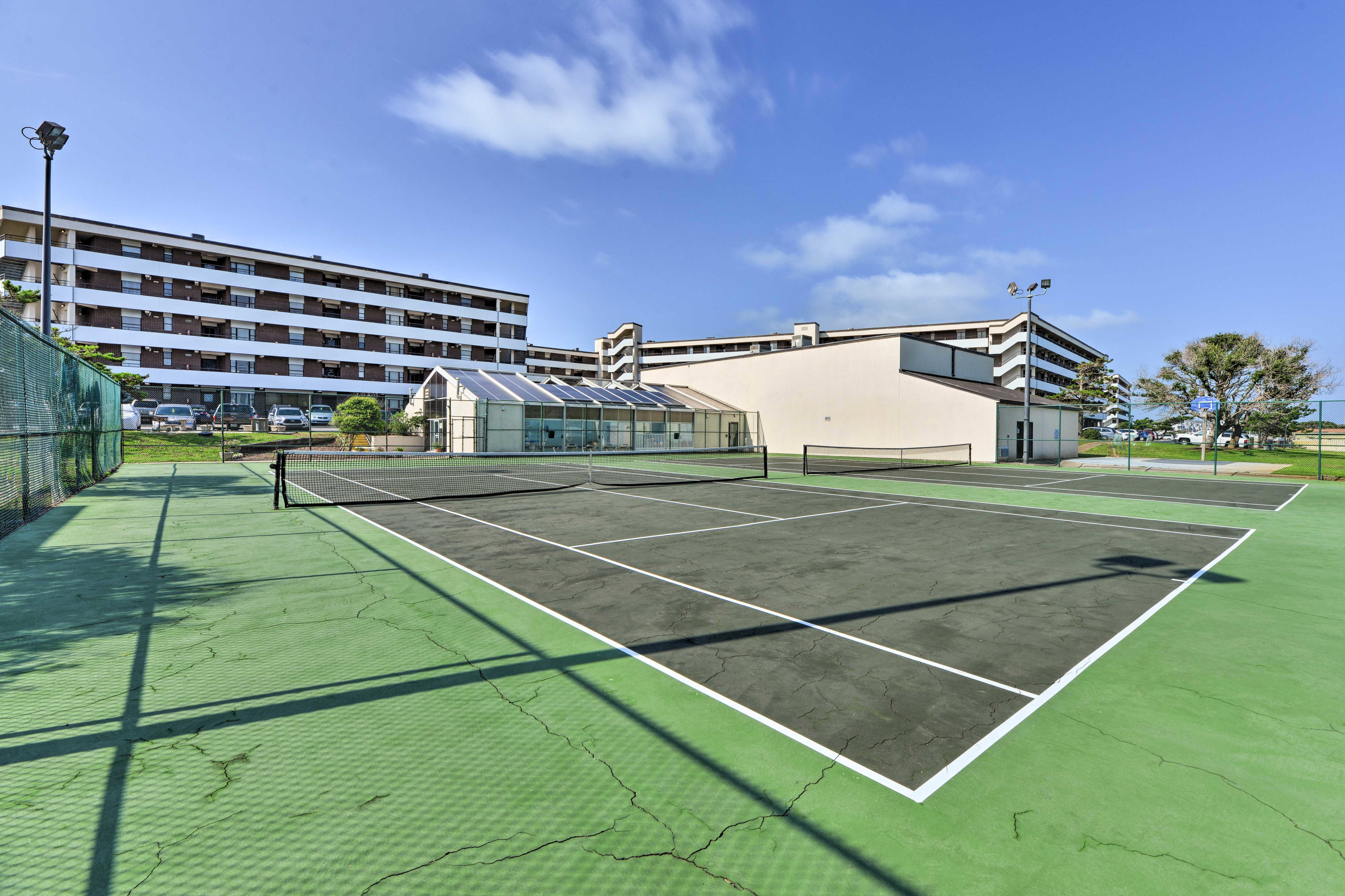 Start a friendly game of tennis with your loved ones.