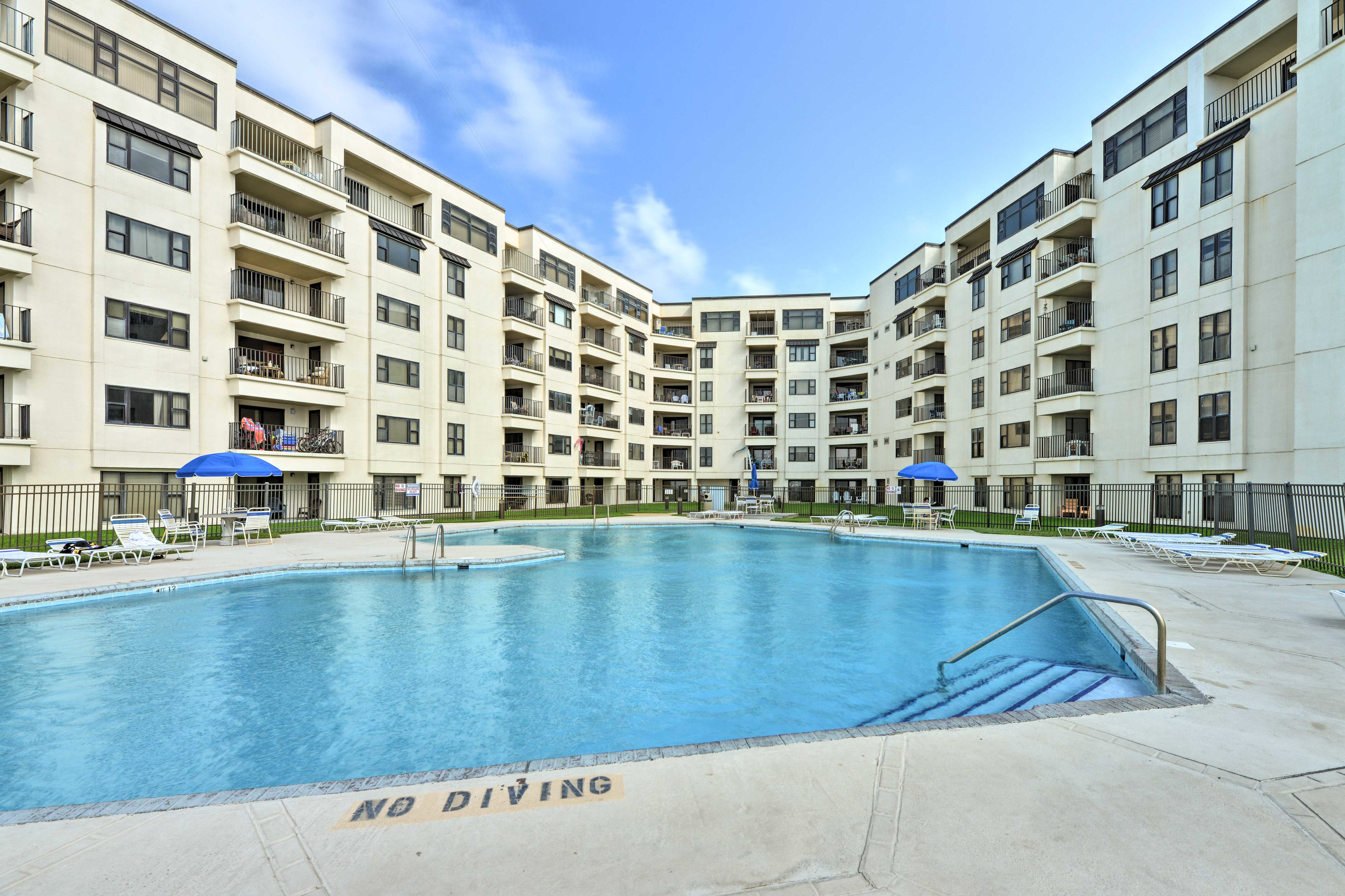 Beat the heat in this spacious community pool.