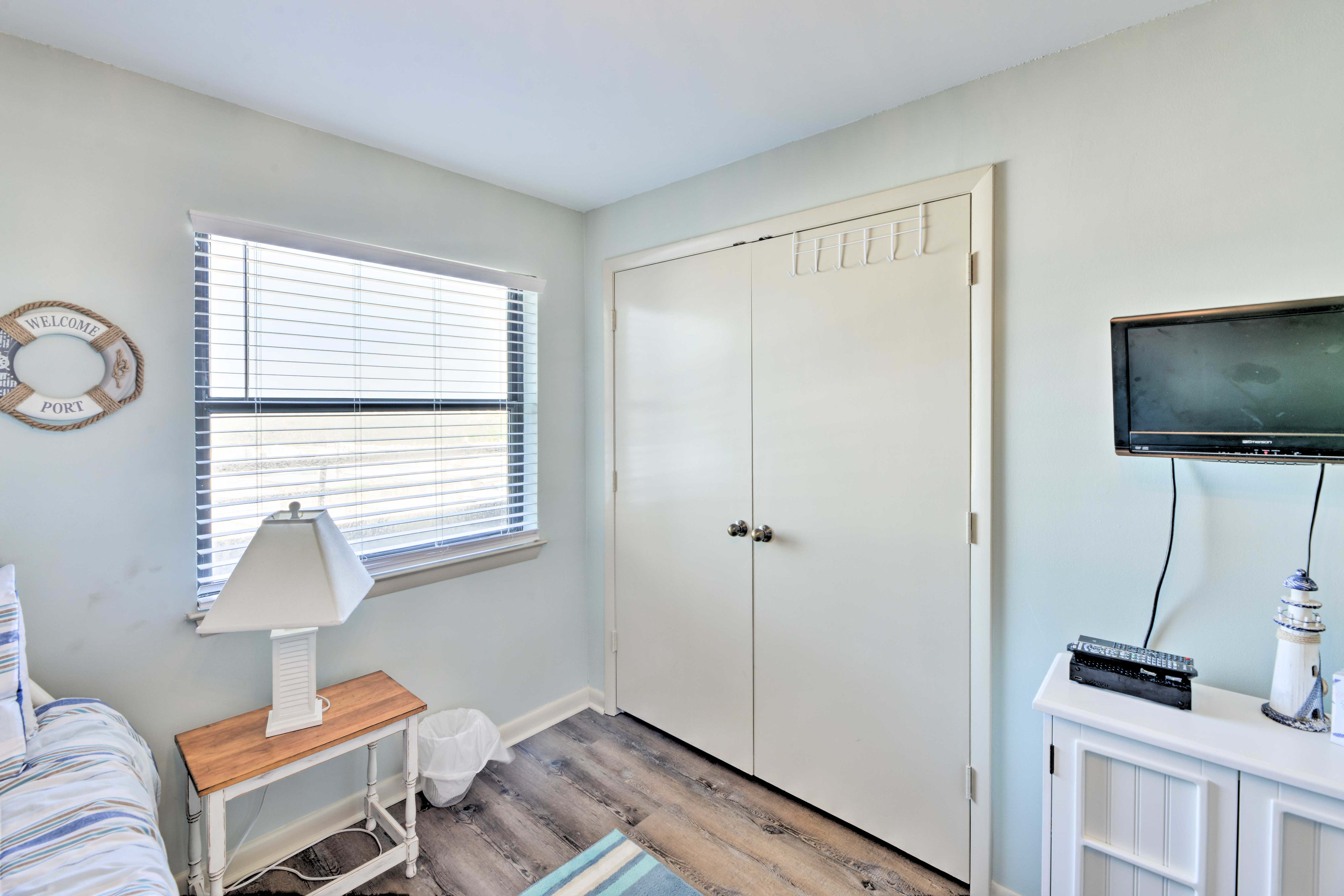 The second bedroom is perfect for close friends and kids.