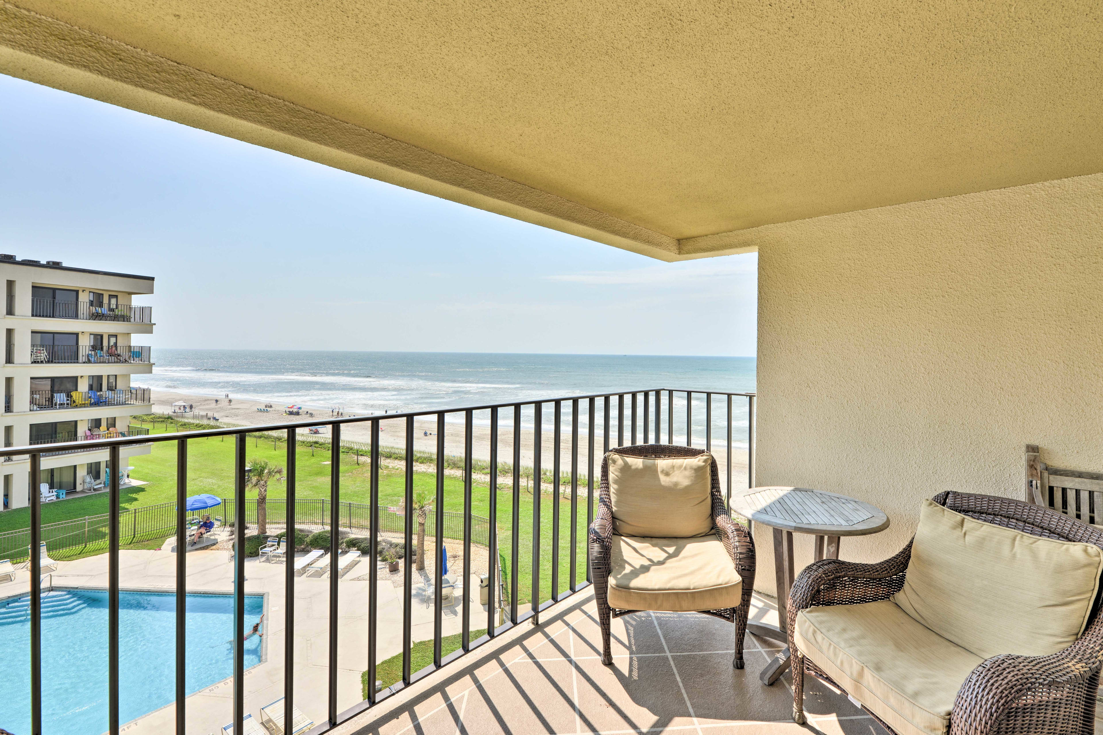 Book your Coastal North Carolina retreat to this spacious beach nook!