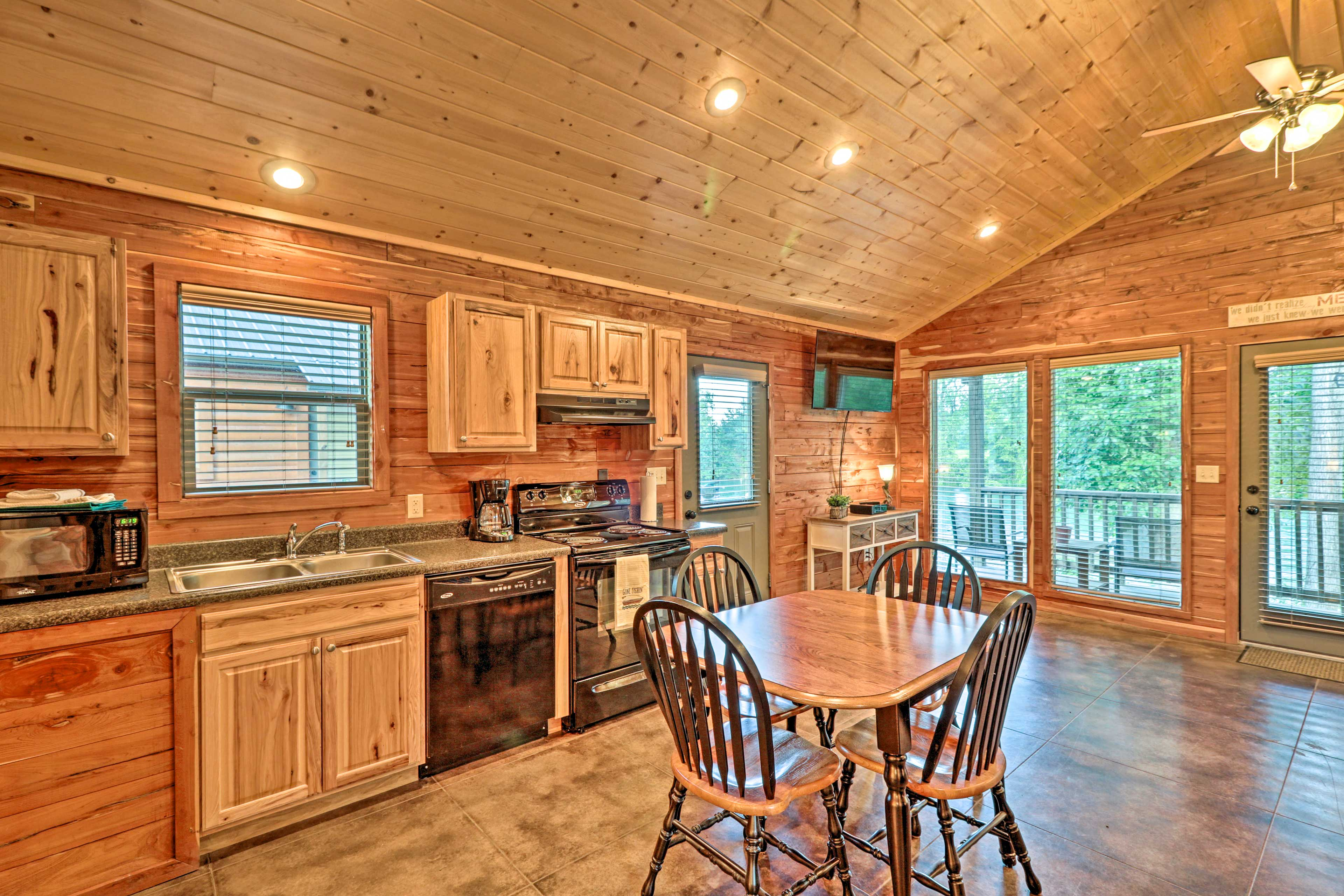 This riverfront cabin will make you feel right at home in Heber Springs!