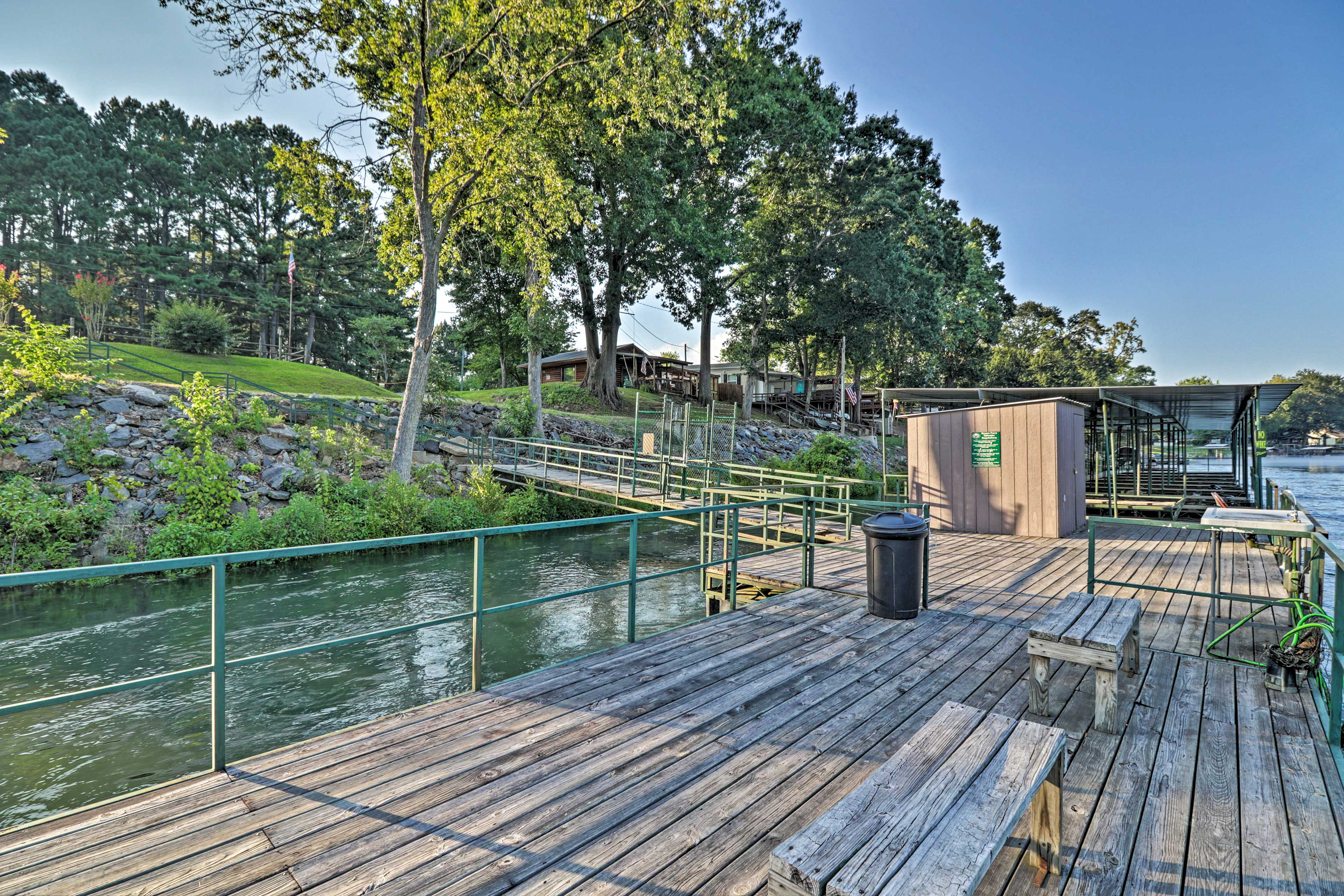 Lush scenery and riverfront vistas set the scene for your stay in Heber Springs!