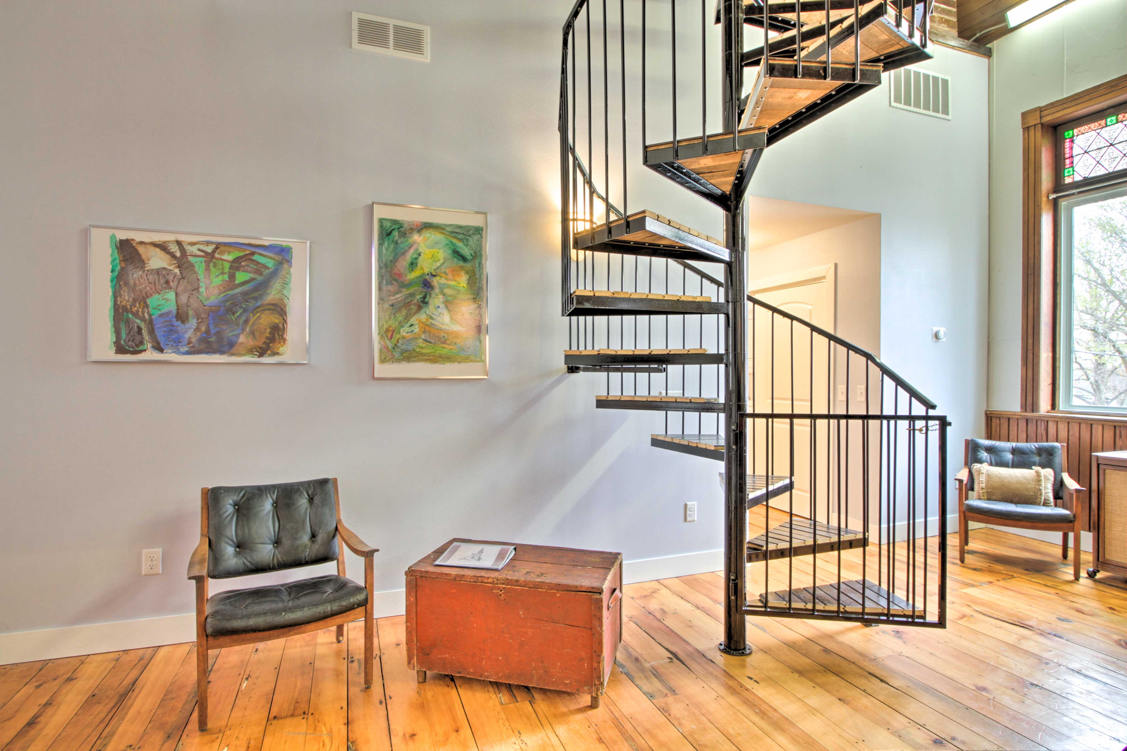 Spiral Stairs to Bedroom