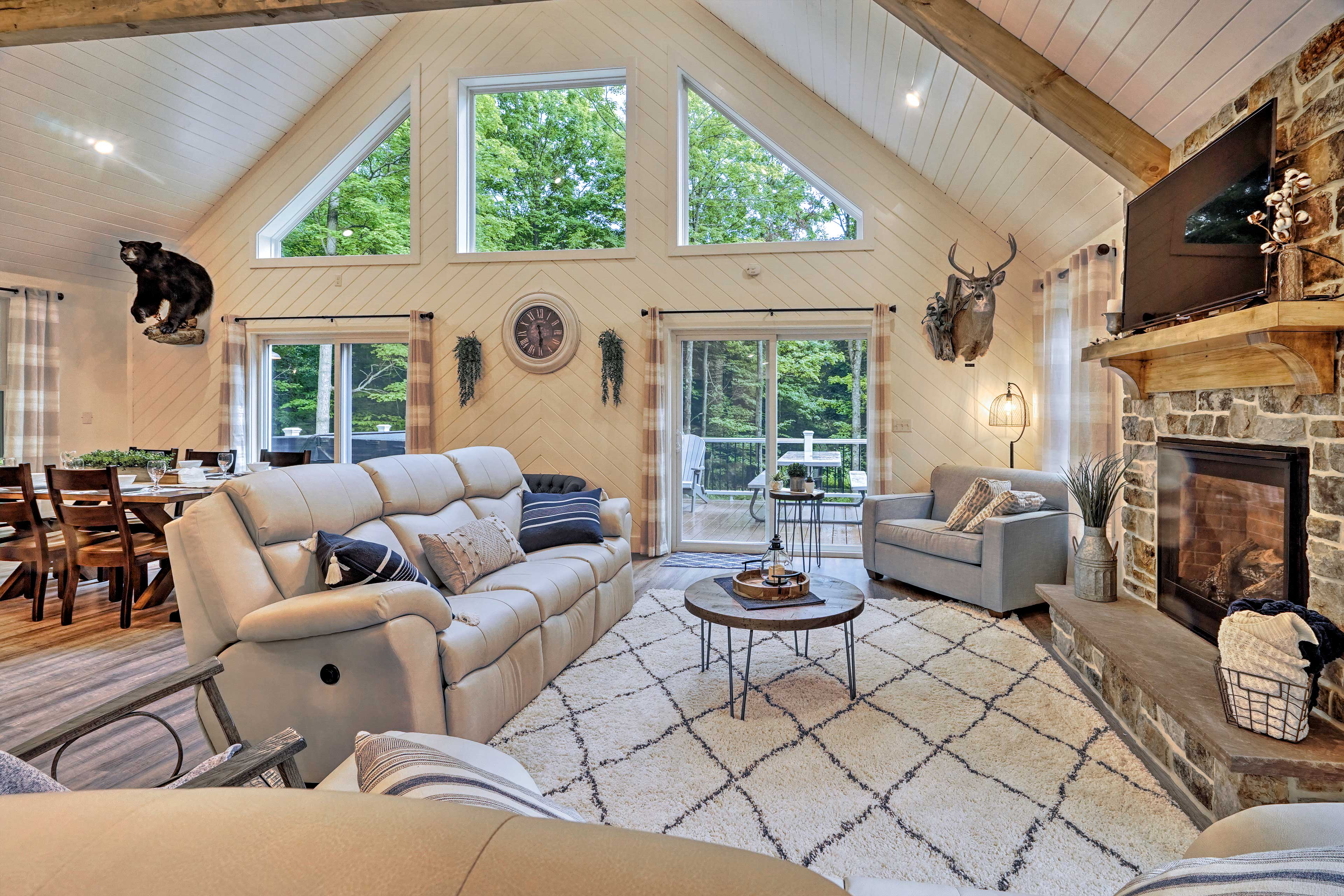Inside, you'll find 2,200 square feet of well-appointed living space.