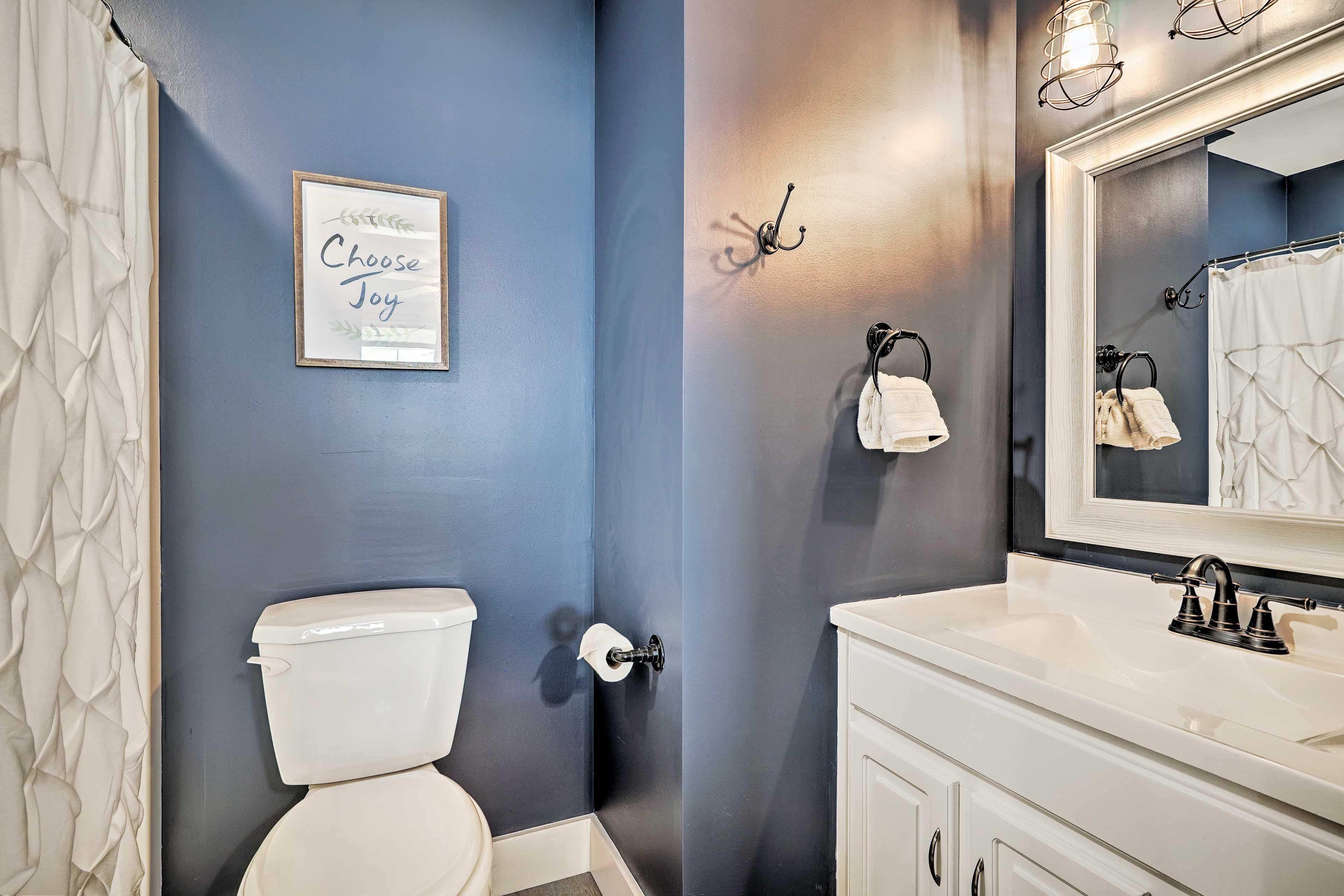 Rinse off in your en-suite bathroom.