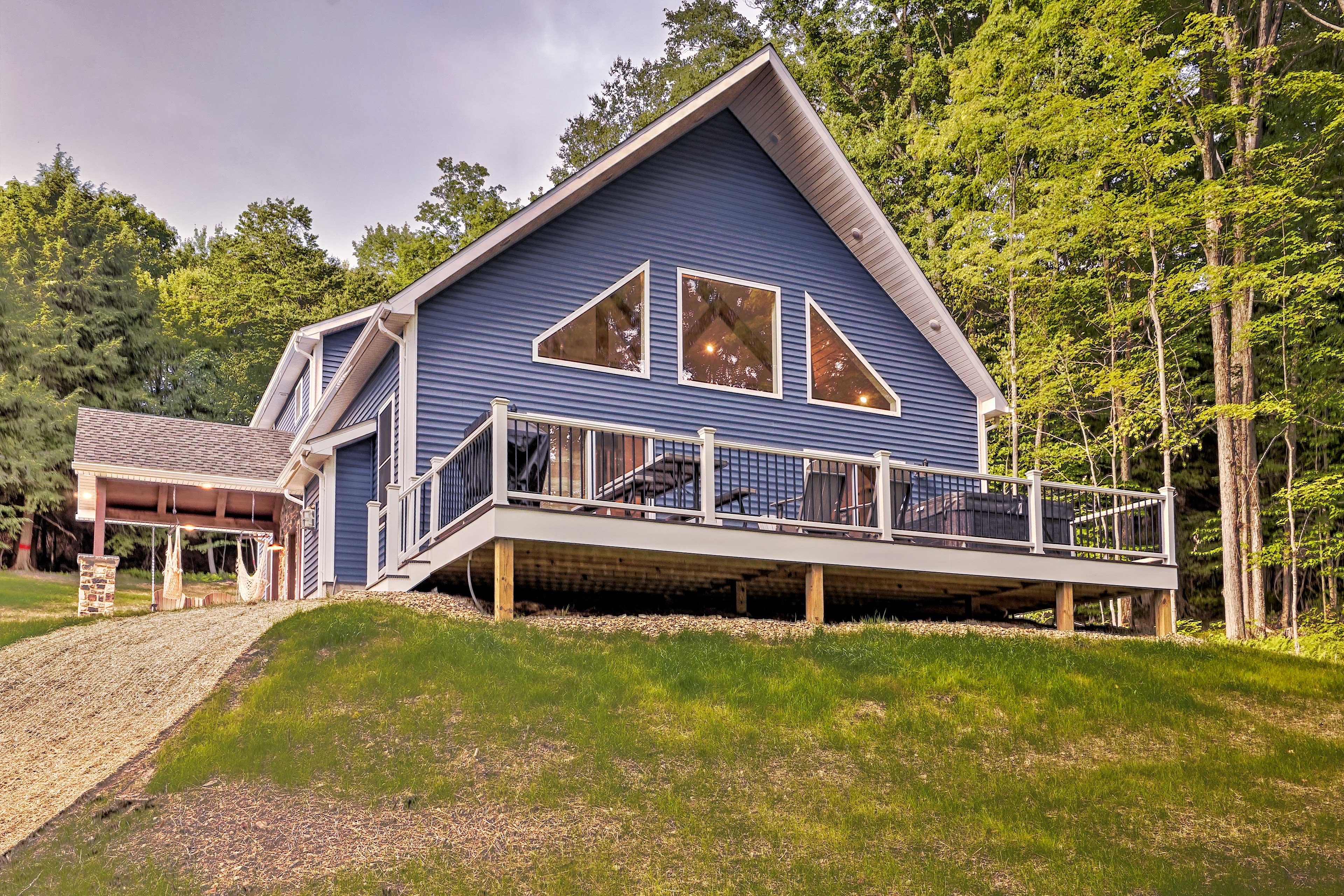 Your group of 16 can stay at this 4-bed, 3-bath Benezette vacation rental.
