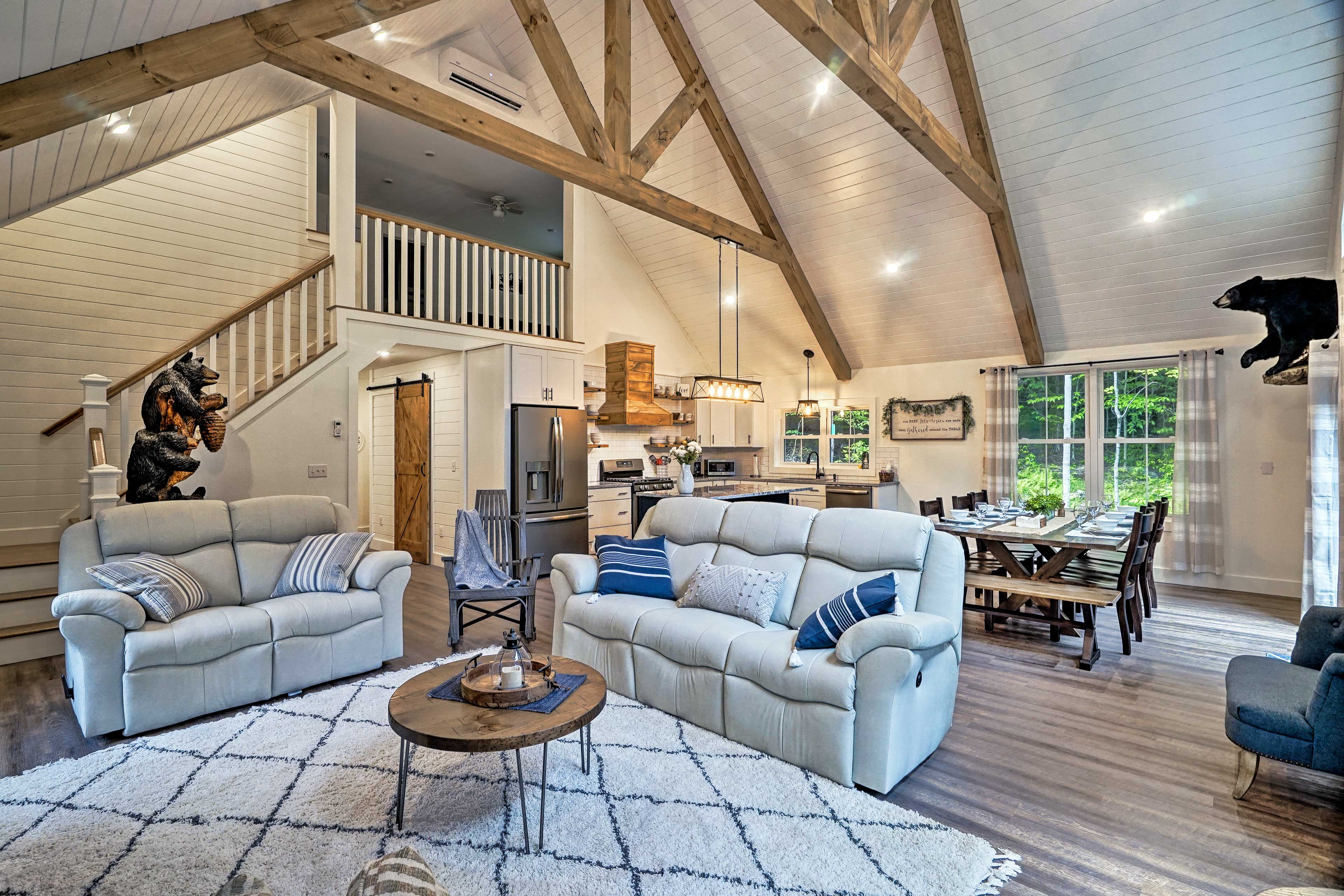 Cozy furnishings complete this charming home.
