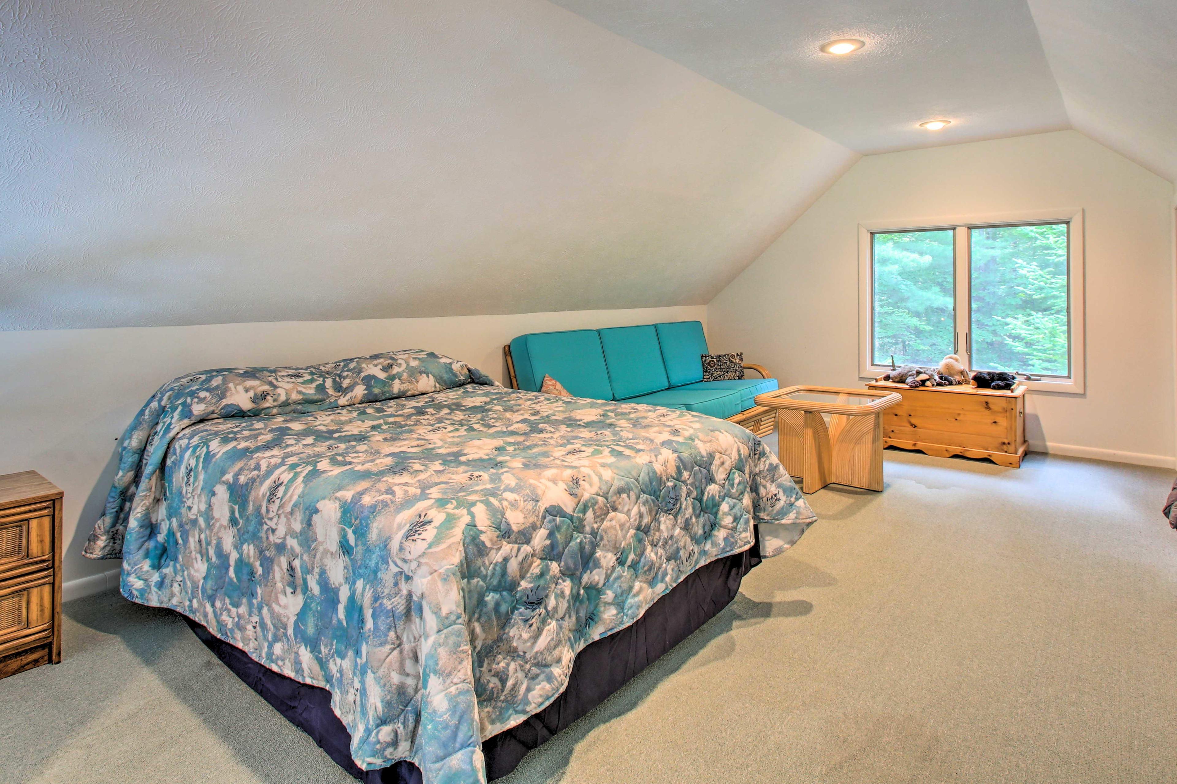 Head up to the loft bedroom.