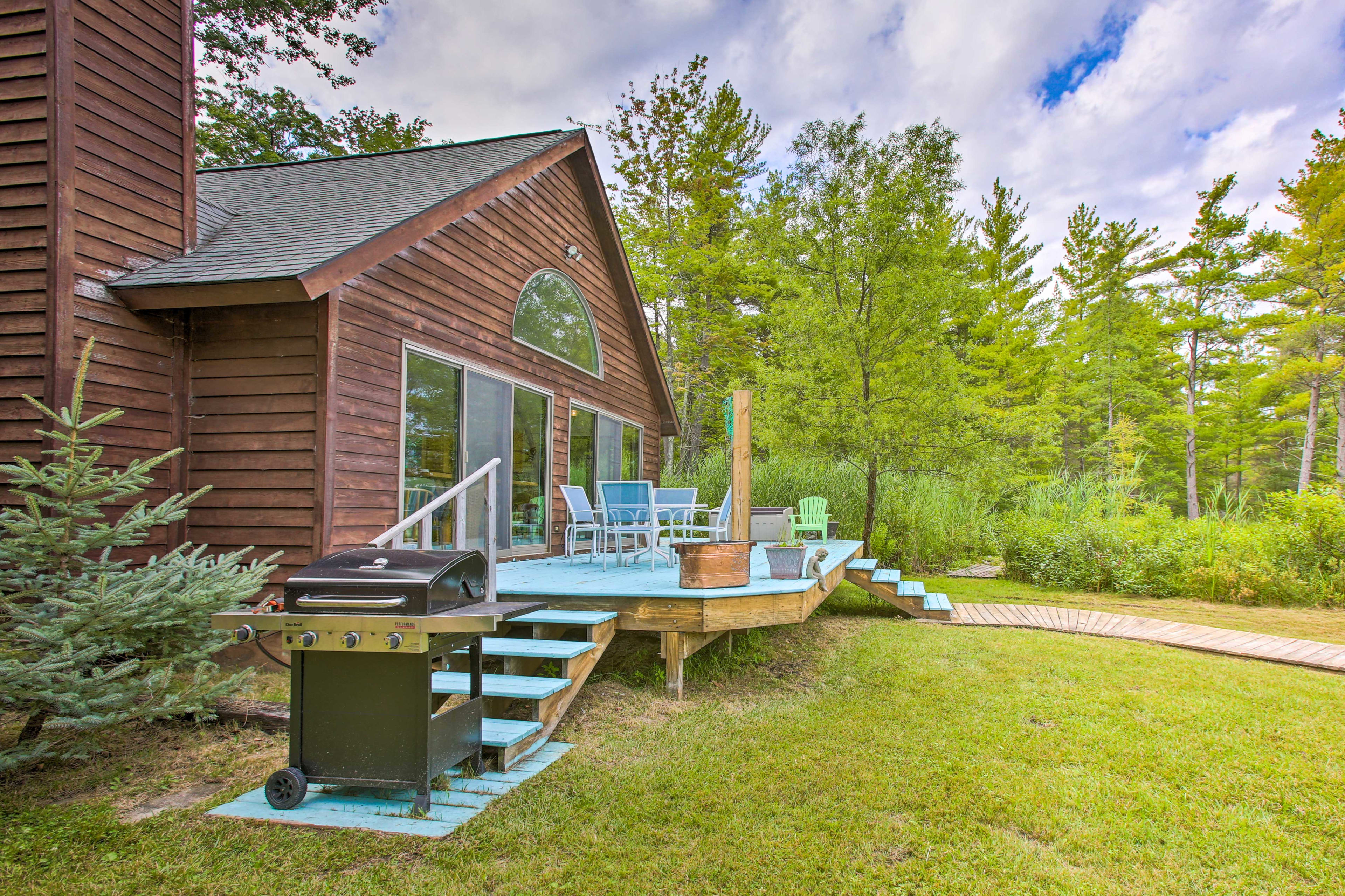 Up to 7 guests can stay at this Traverse City home.