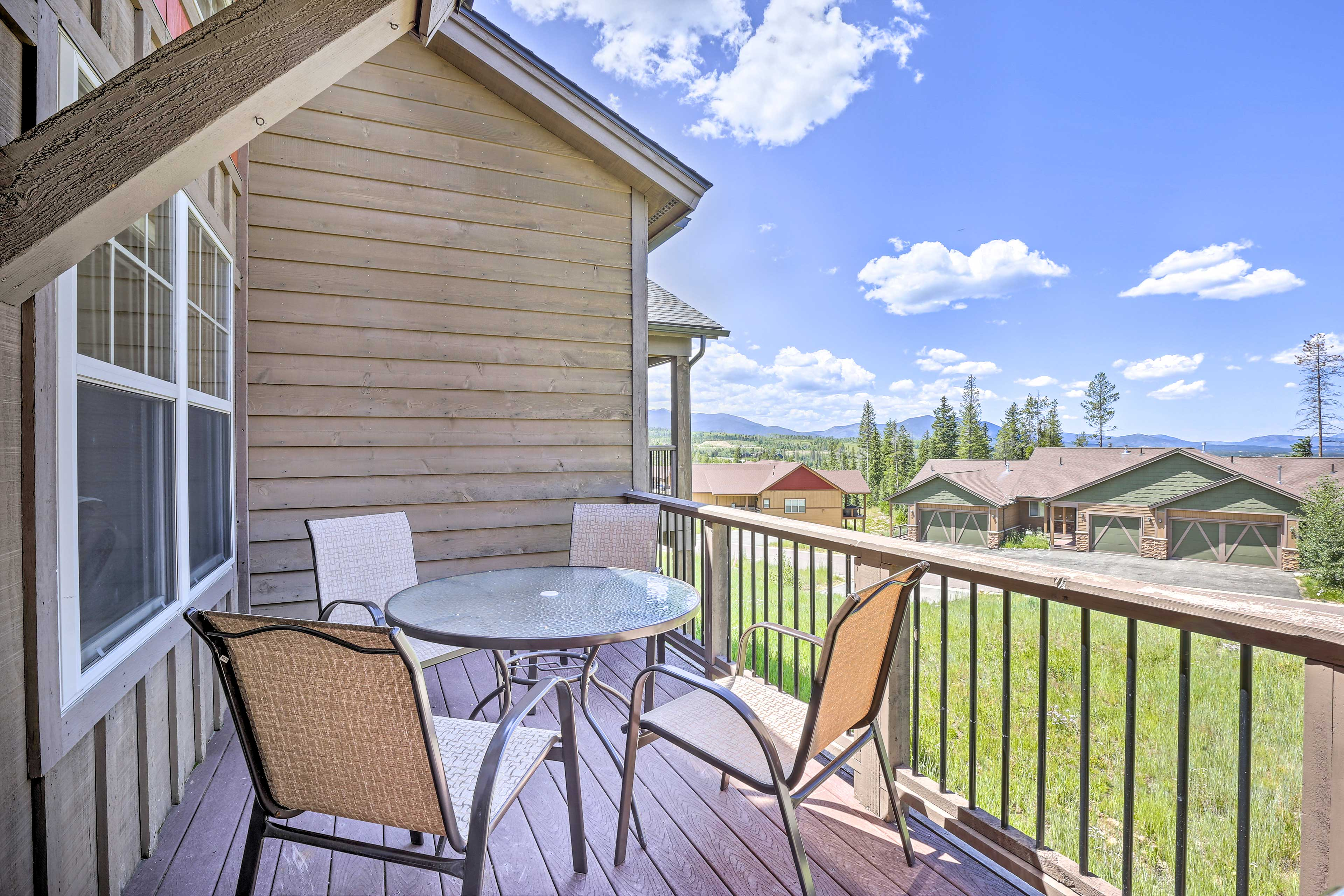 Take in beautiful vistas from this vacation rental's deck!