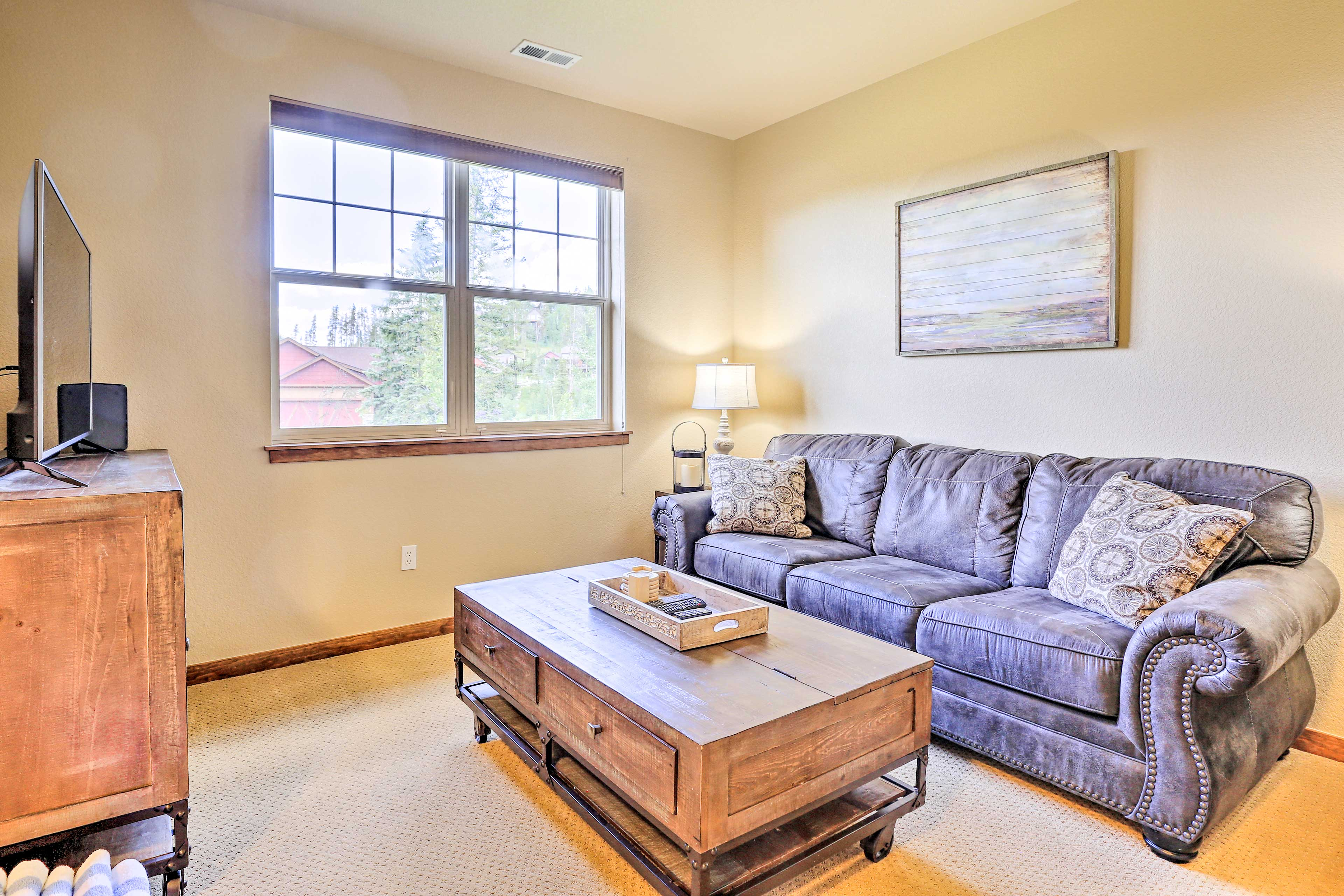 Make yourself comfortable in the second living room.
