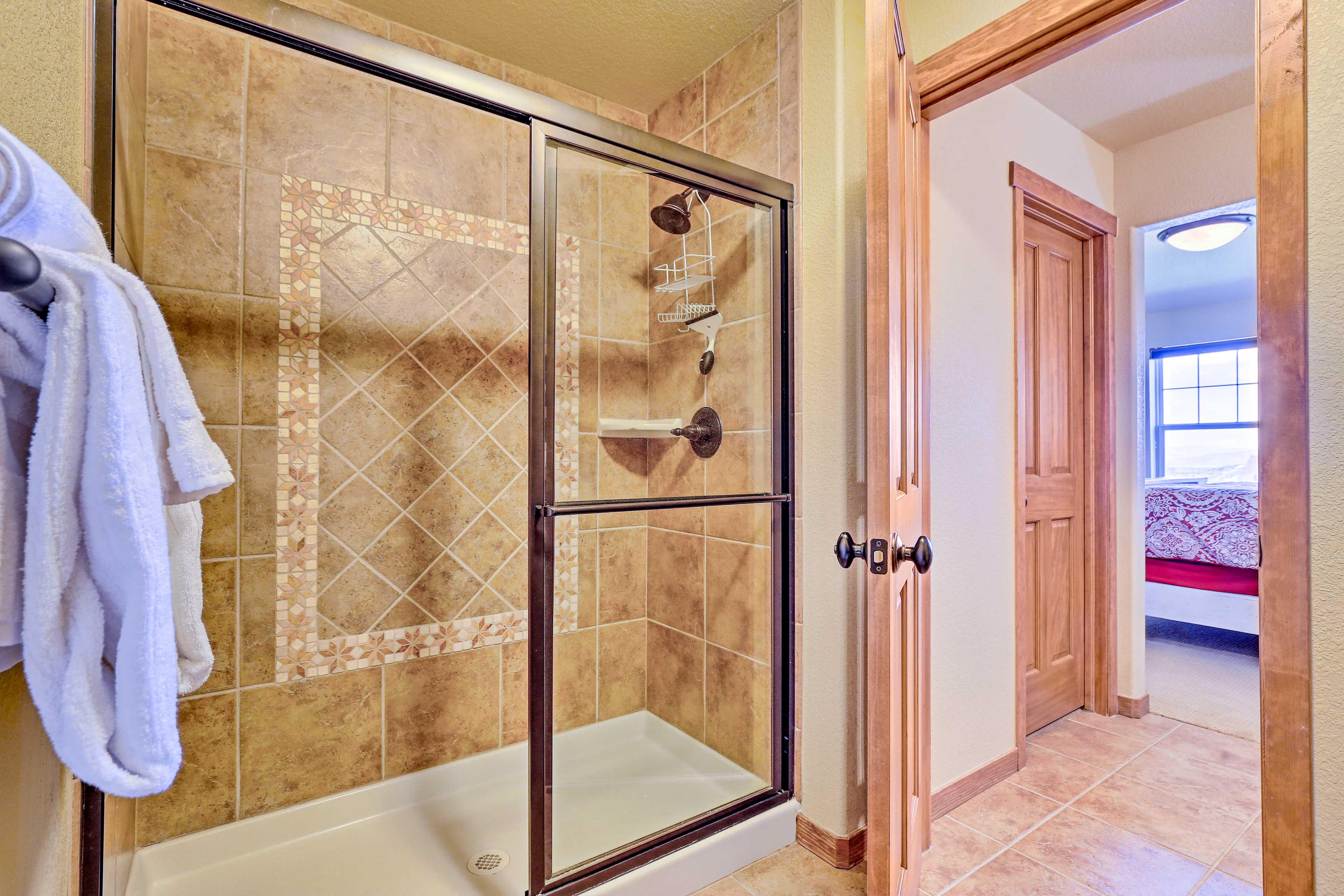 Rinse off the day's adventures in the en-suite bathroom.