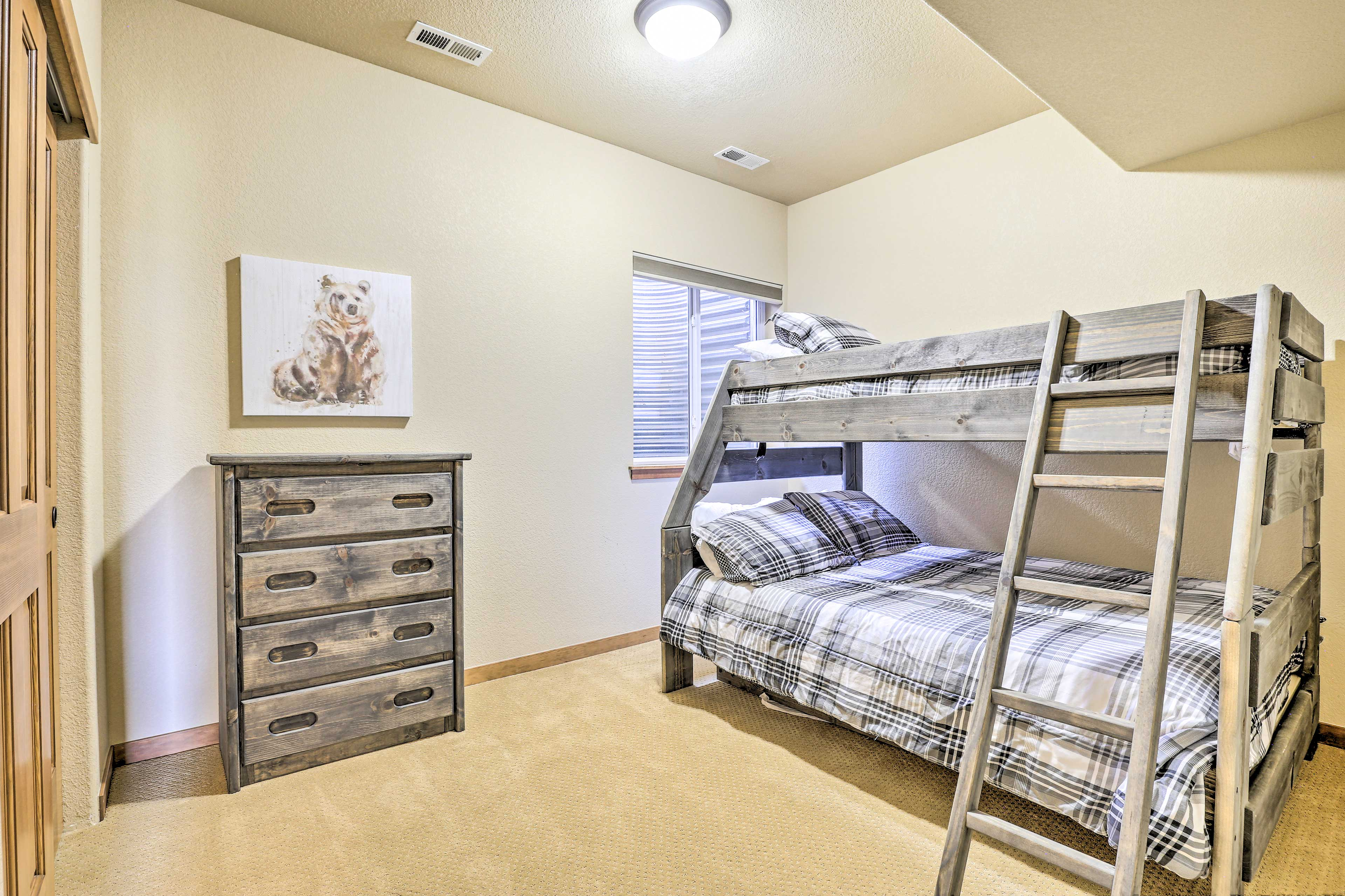 Take your pick of the top or bottom bunk.