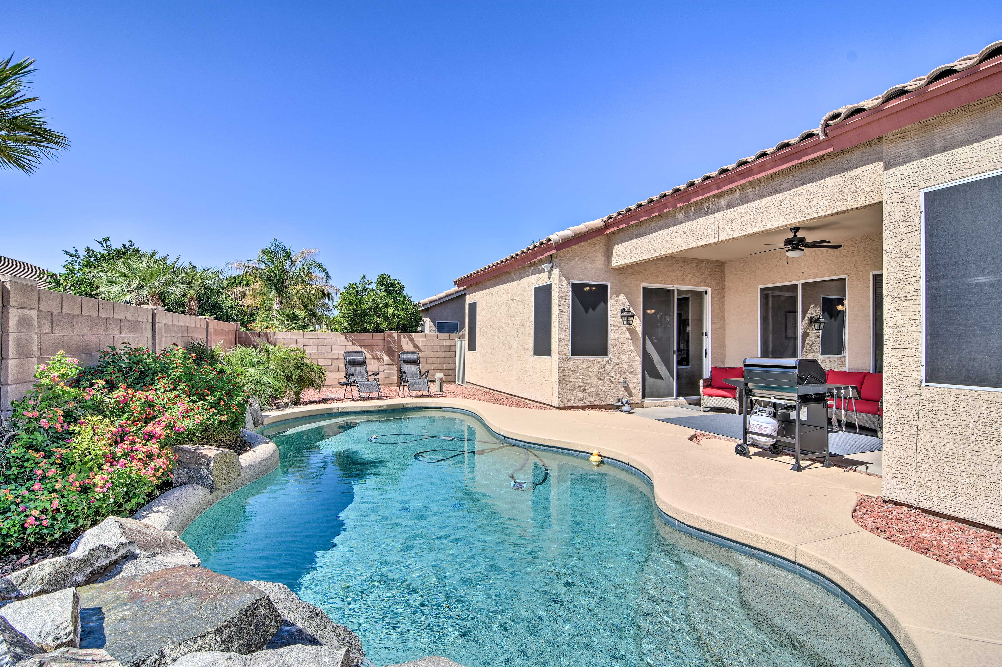 Come stay at this 3-bedroom, 2-bathroom home in Mesa!